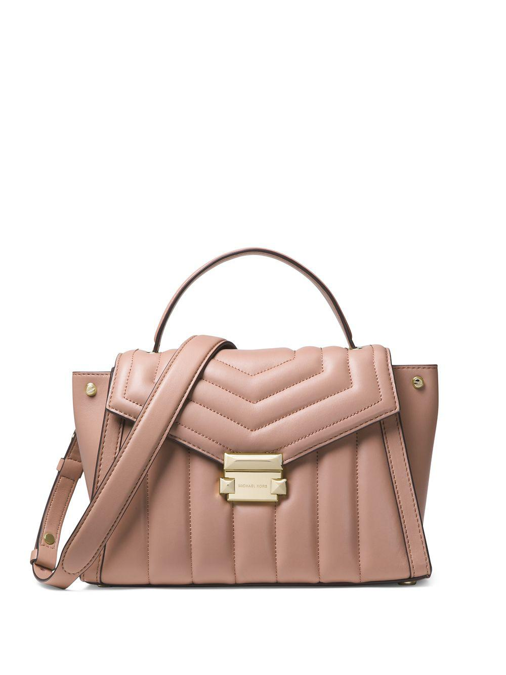 59272d76fc9e71 MICHAEL Michael Kors. Women's Whitney Quilted Leather Satchel