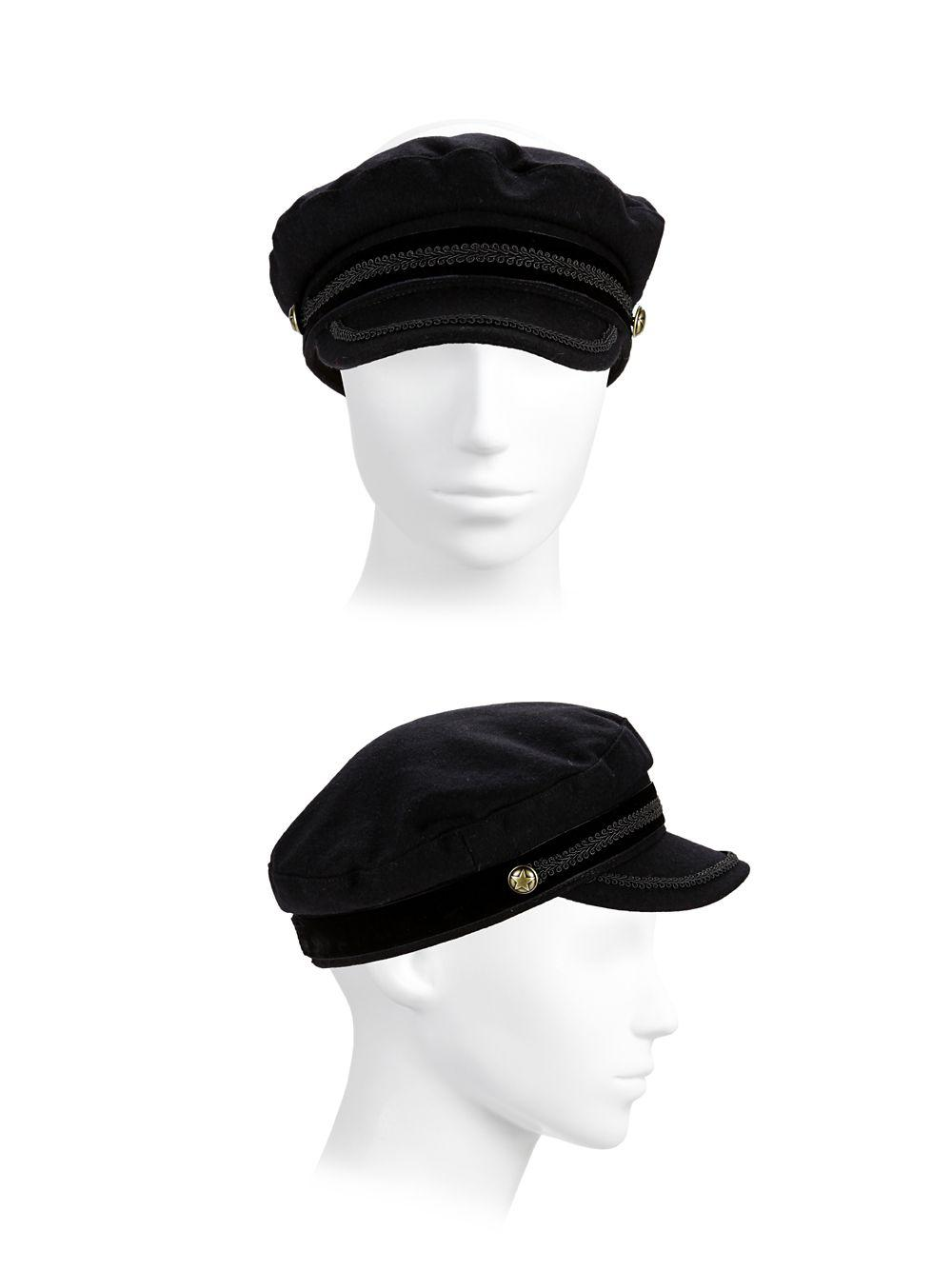 a39e6679fe8 Lauren By Ralph Lauren Felt Greek Fisherman Hat in Black - Lyst