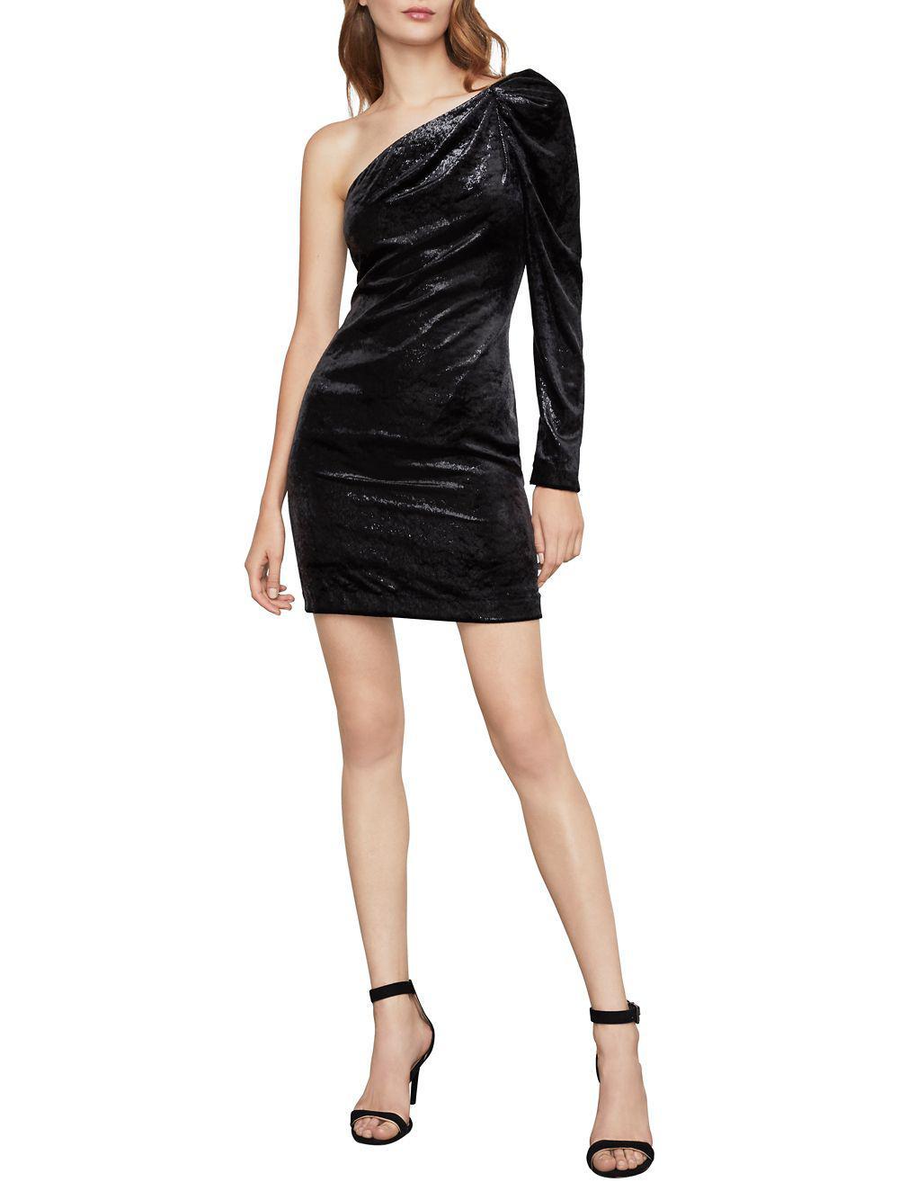 9e2aedb0d9c1 Bcbgmaxazria One-shoulder Shift Dress in Black - Lyst