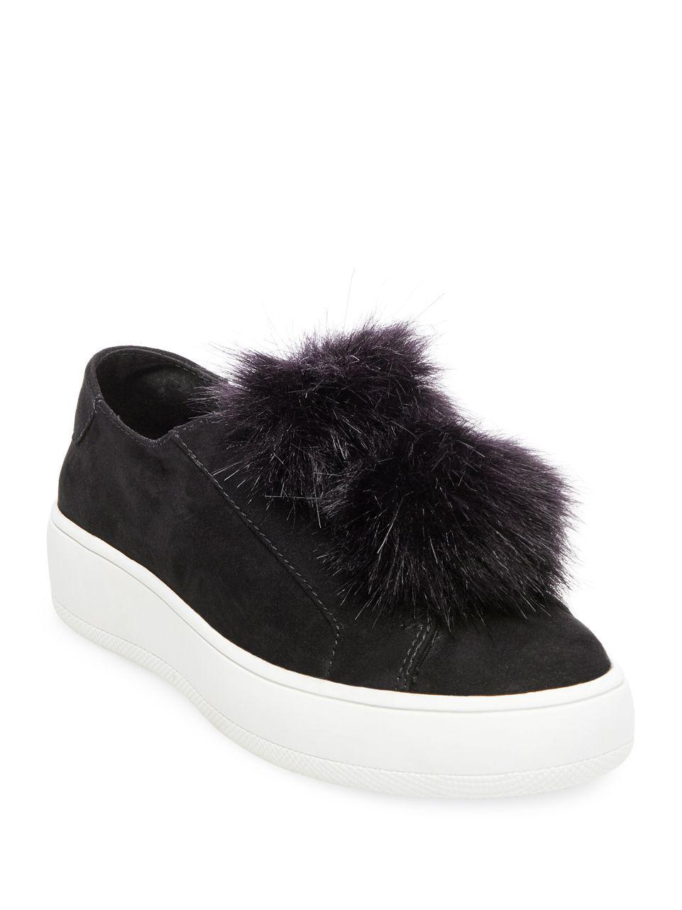 7506e366a3a Steve Madden - Black 'bryanne' Puffball Platform Sneaker - Lyst