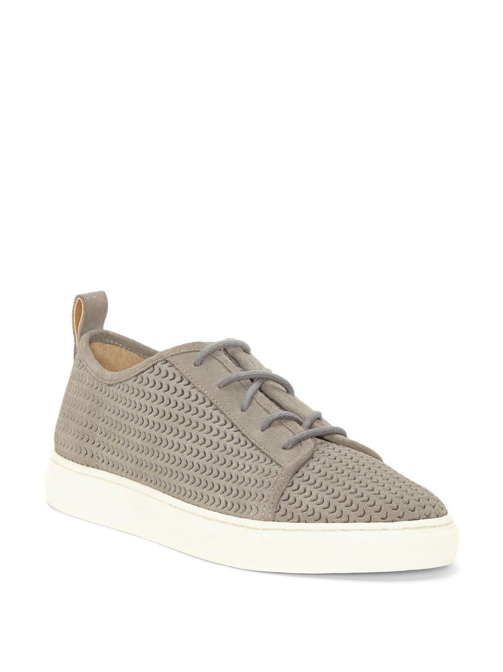 Lawove Laser Perforated Suede Sneakers sk2Z5p3