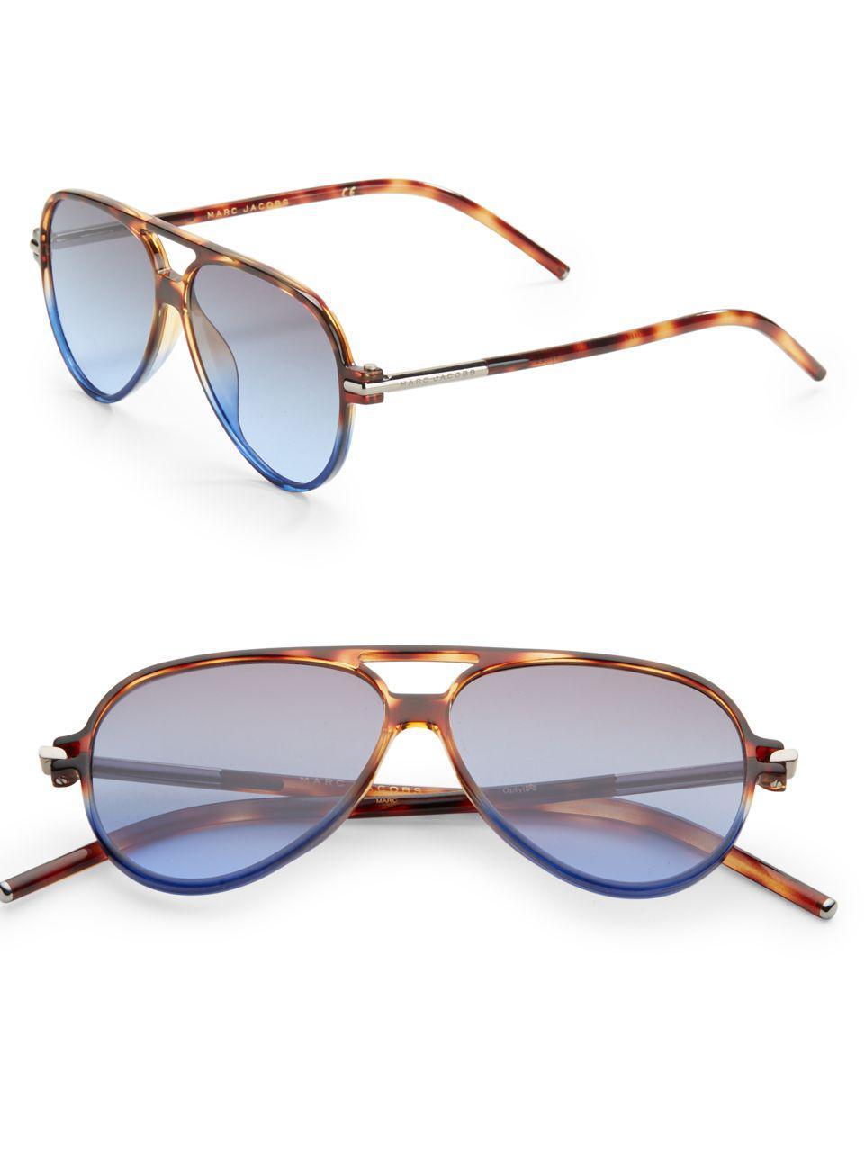1ea2c30999ef Lyst - Marc Jacobs 56mm Aviator Sunglasses in Brown