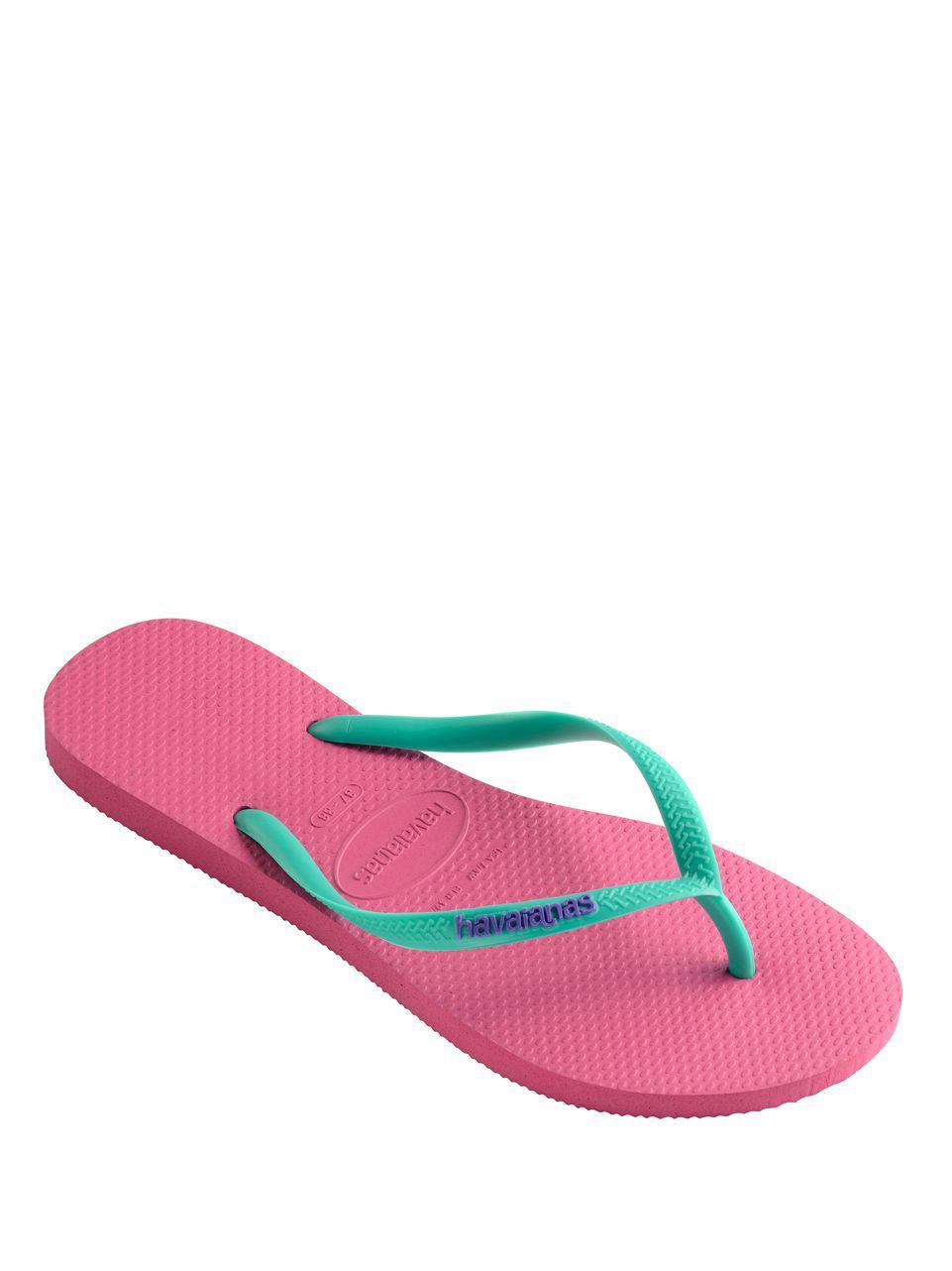 88b282194 Havaianas - Pink Slim Logo Pop Up Flip Flops - Lyst. View fullscreen