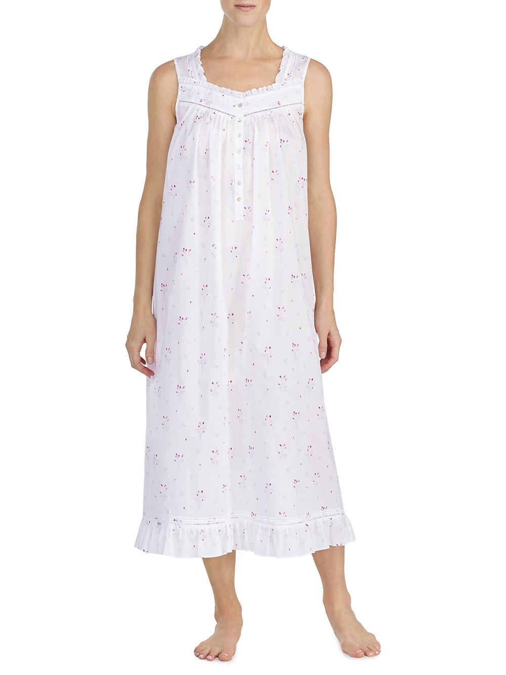 511c9a8ee4 Lyst - Eileen West Sleeveless Ballet Nightgown in White
