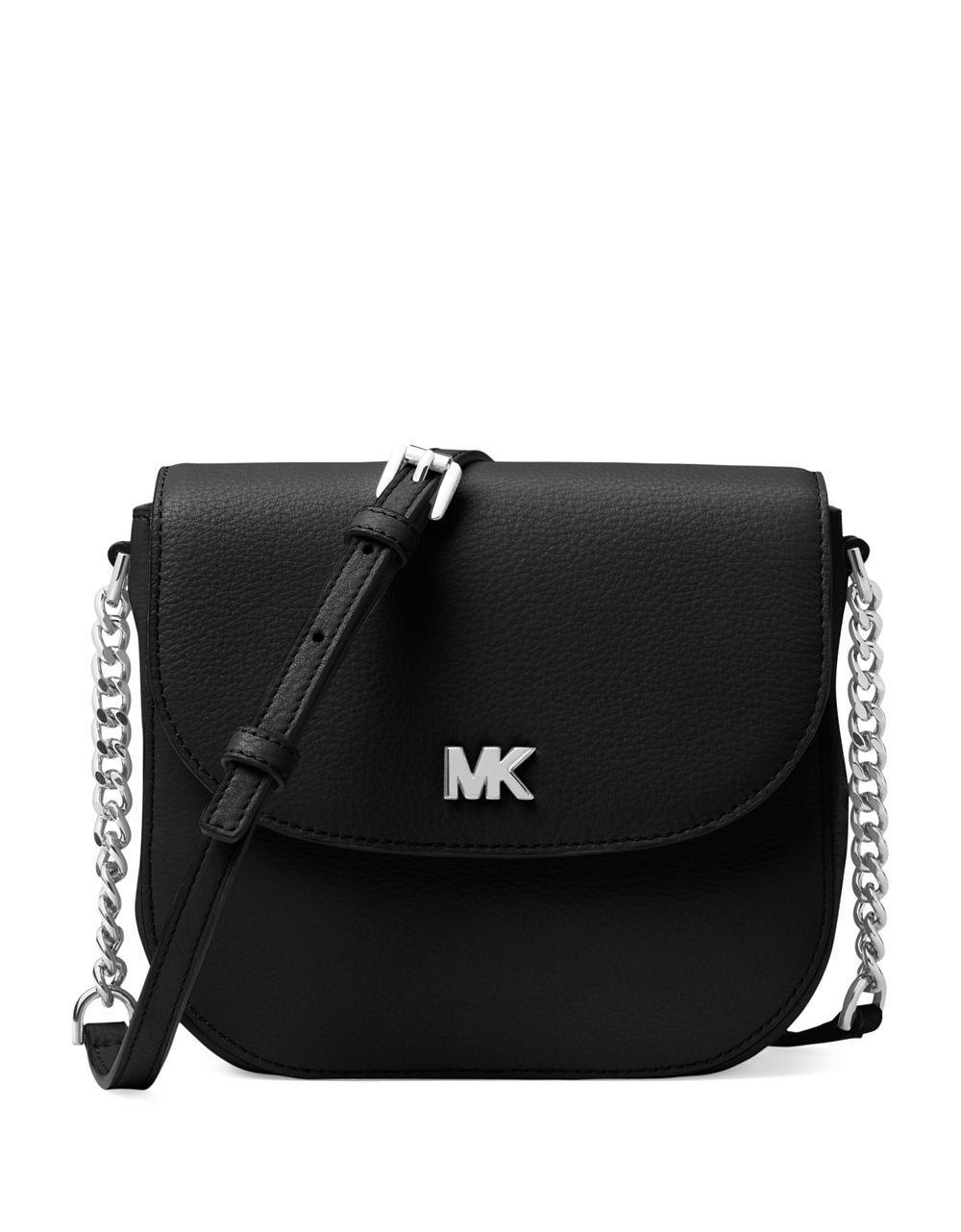 Michael Michael Kors Half Dome Crossbody Bag in Black Small Pebble Leather MTJJPrQ4z