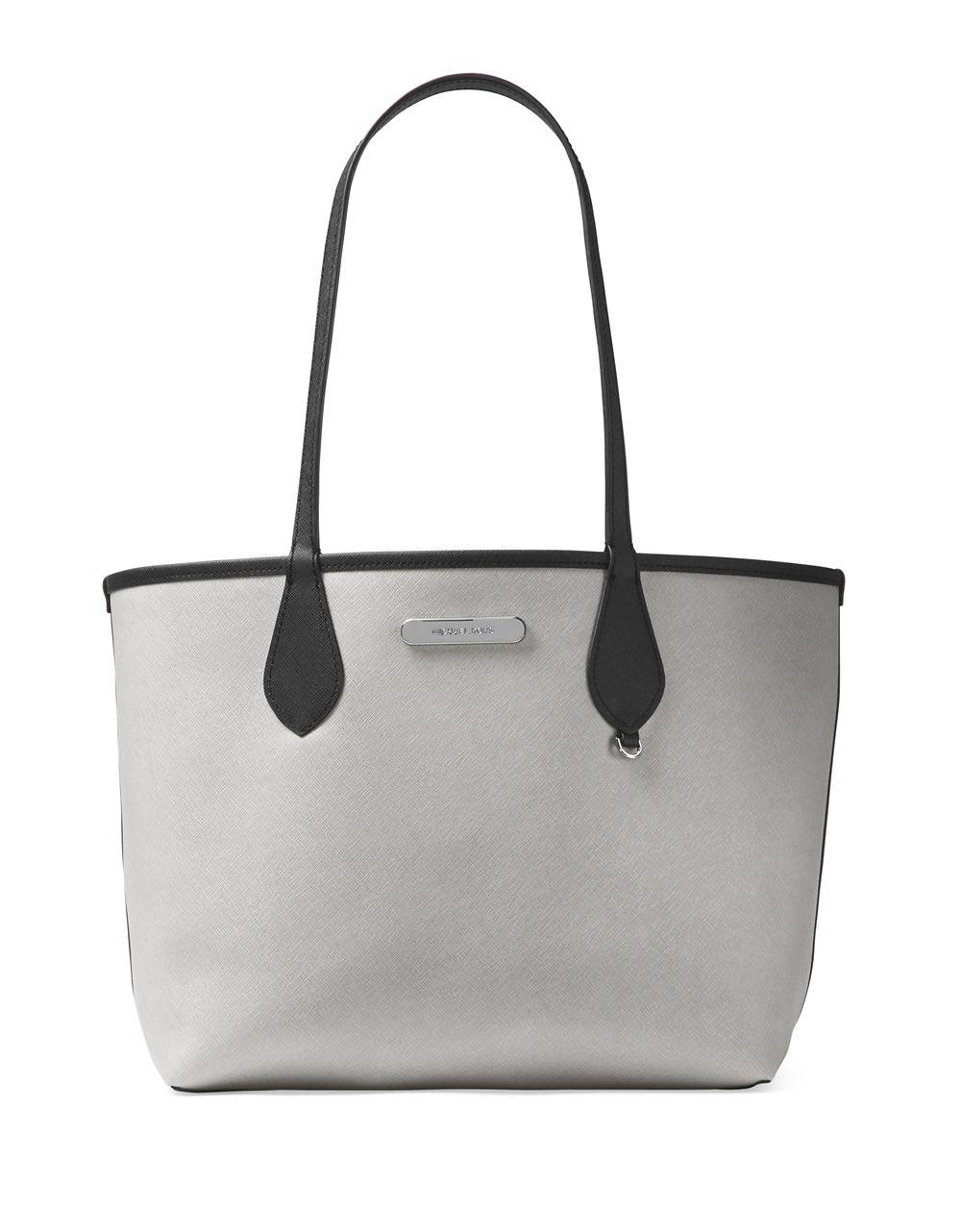 efb090a3f80a Michael Michael Kors Saige Medium Reversible Tote in Gray - Lyst