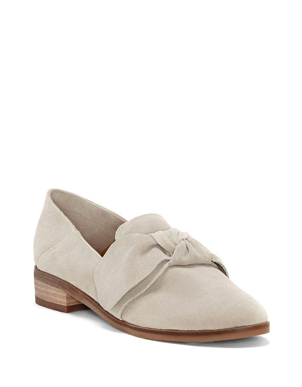 6818f672cfb Lucky Brand Cozzmo Leather Knot Loafers in Gray - Lyst