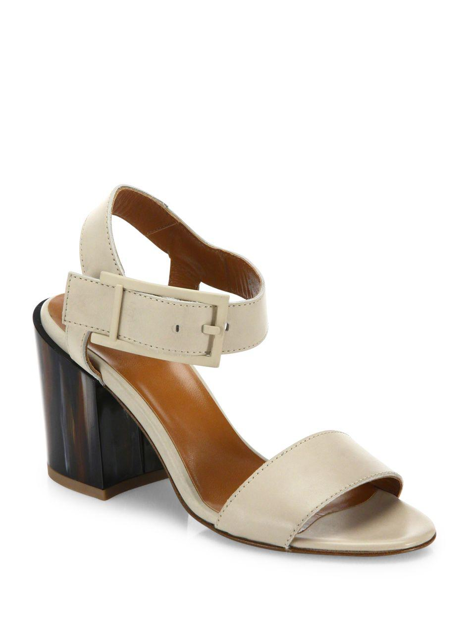 Aquatalia Fredia Leather Block Heel Sandals eK6yx