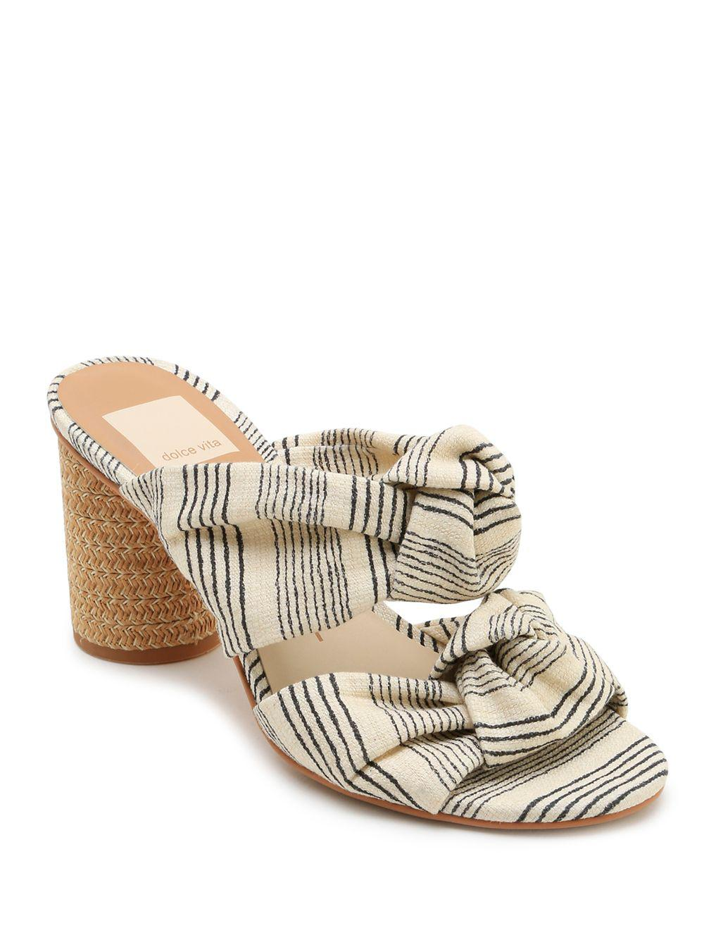 13e6c0f269f Dolce Vita - Natural Jene Striped Sandals - Lyst