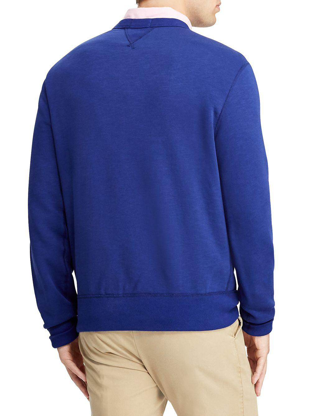 fff660e2ad31 ... cheap polo ralph lauren blue graphic fleece sweatshirt for men lyst.  view fullscreen 780d9 d32bf