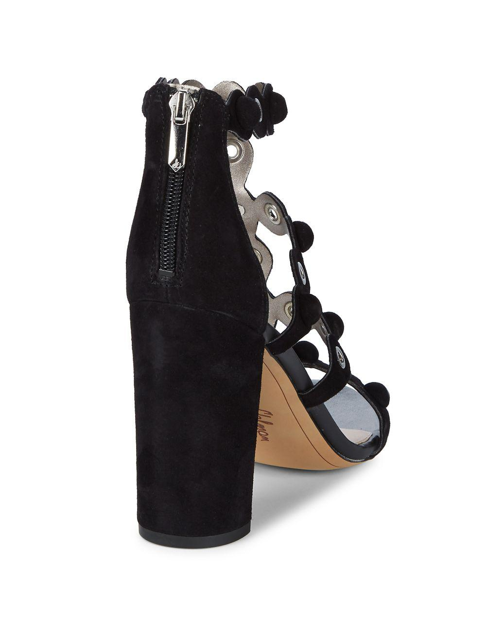 2b46a3ee3c7 Sam Edelman Yuli Strappy Grommet Suede Sandal in Black - Save  83.89830508474576% - Lyst