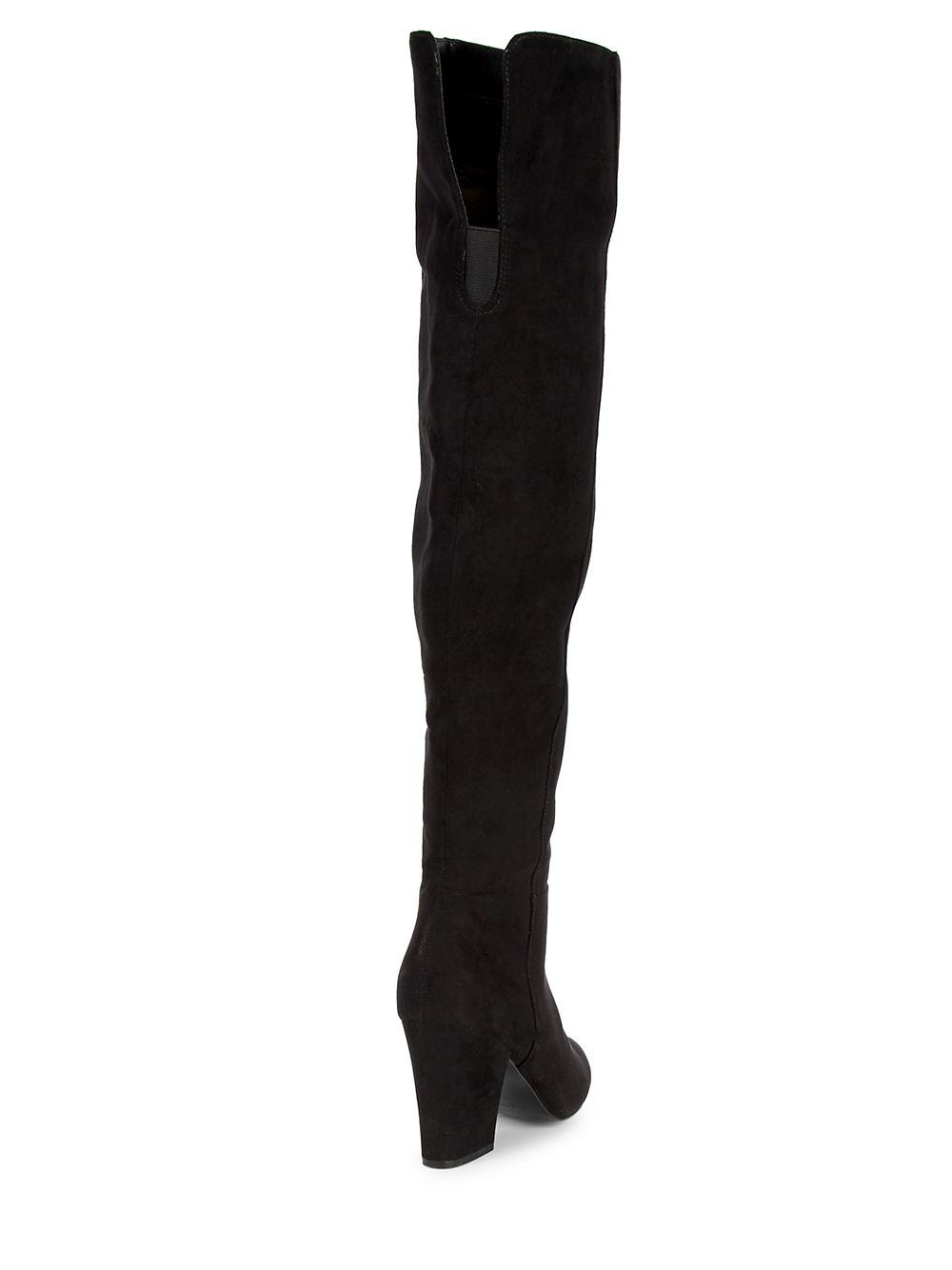afabc5576e7 Nine West - Black Siventa Textile Over-the-knee Boots - Lyst. View  fullscreen