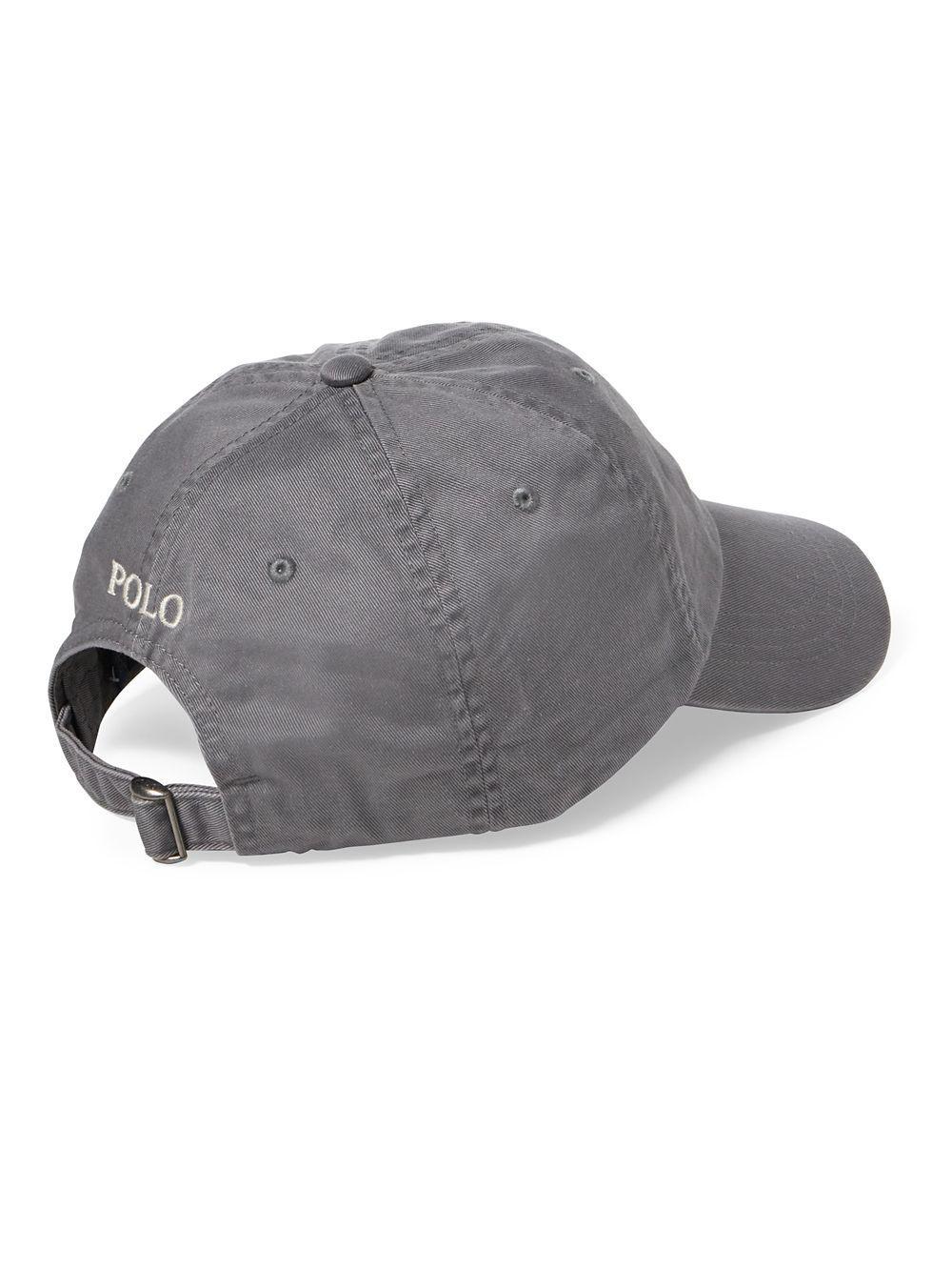 Polo Ralph Lauren - Gray Men s Chino Sports Cap for Men - Lyst. View  fullscreen f1472e8e9a5d