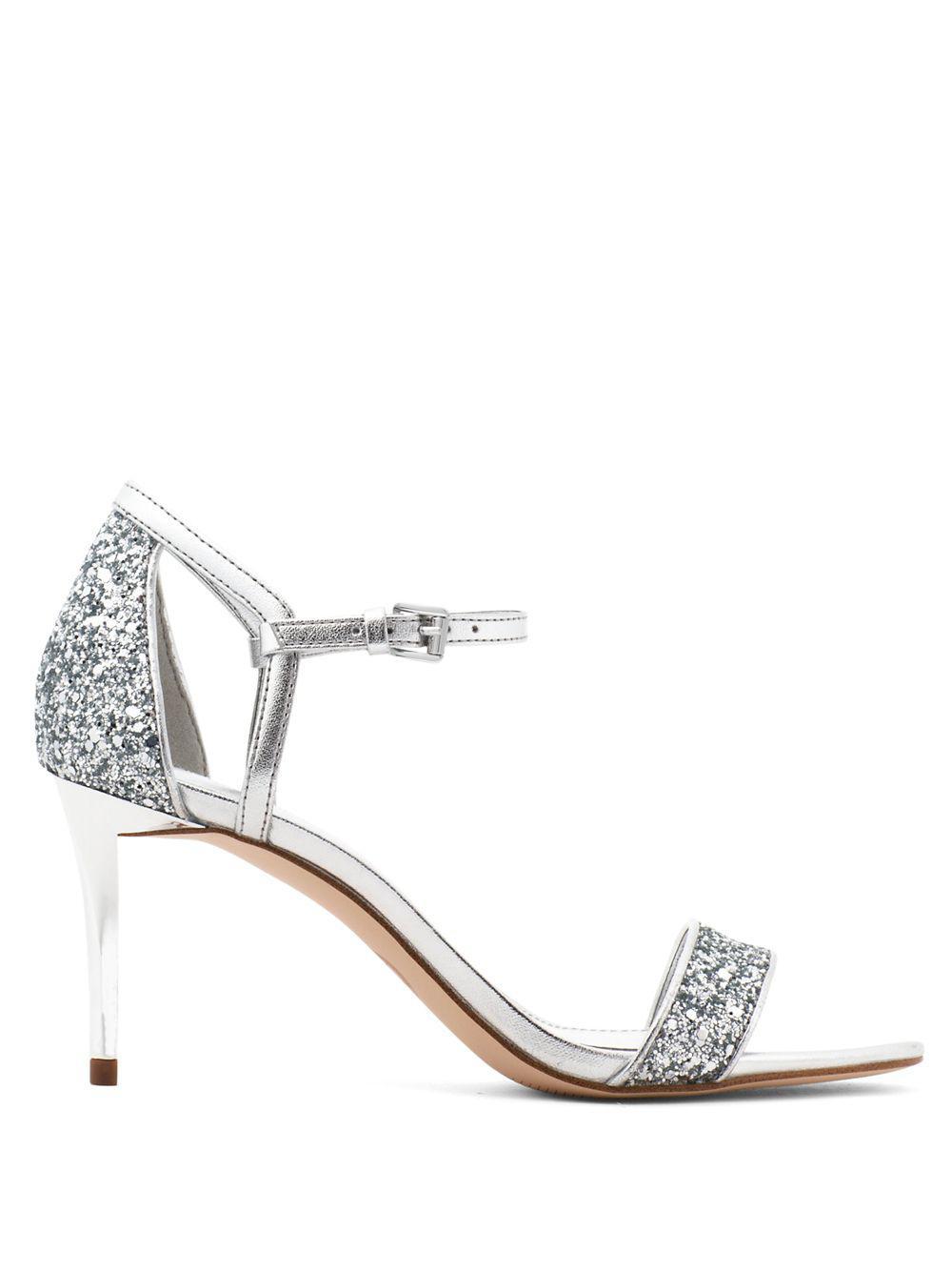 8e008b3530a8 MICHAEL Michael Kors - Metallic Simone Glitter Mid Sandals - Lyst. View  fullscreen