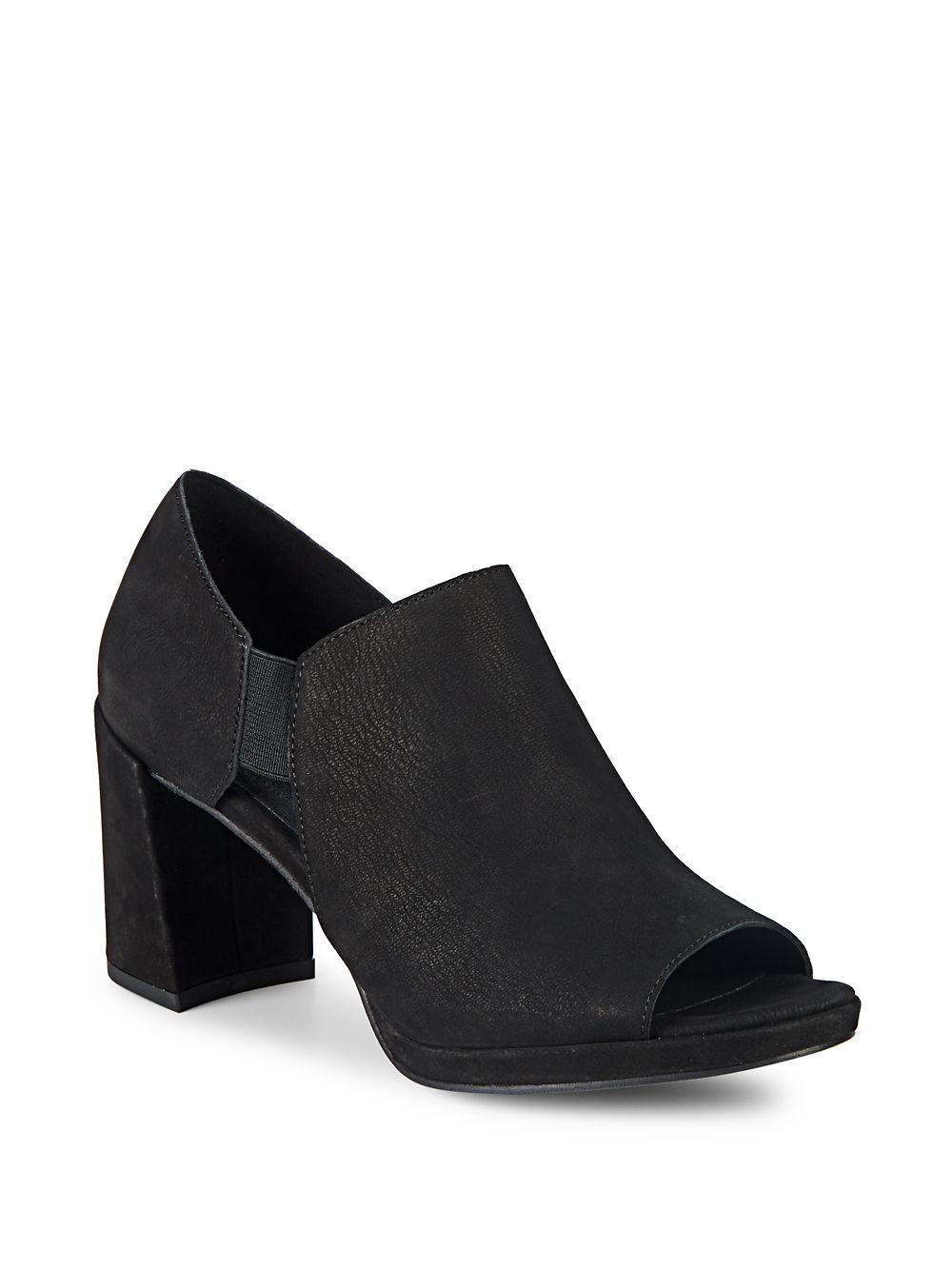 b3bb3cabb211 Lyst - Eileen Fisher Milton Nubuck Booties in Black