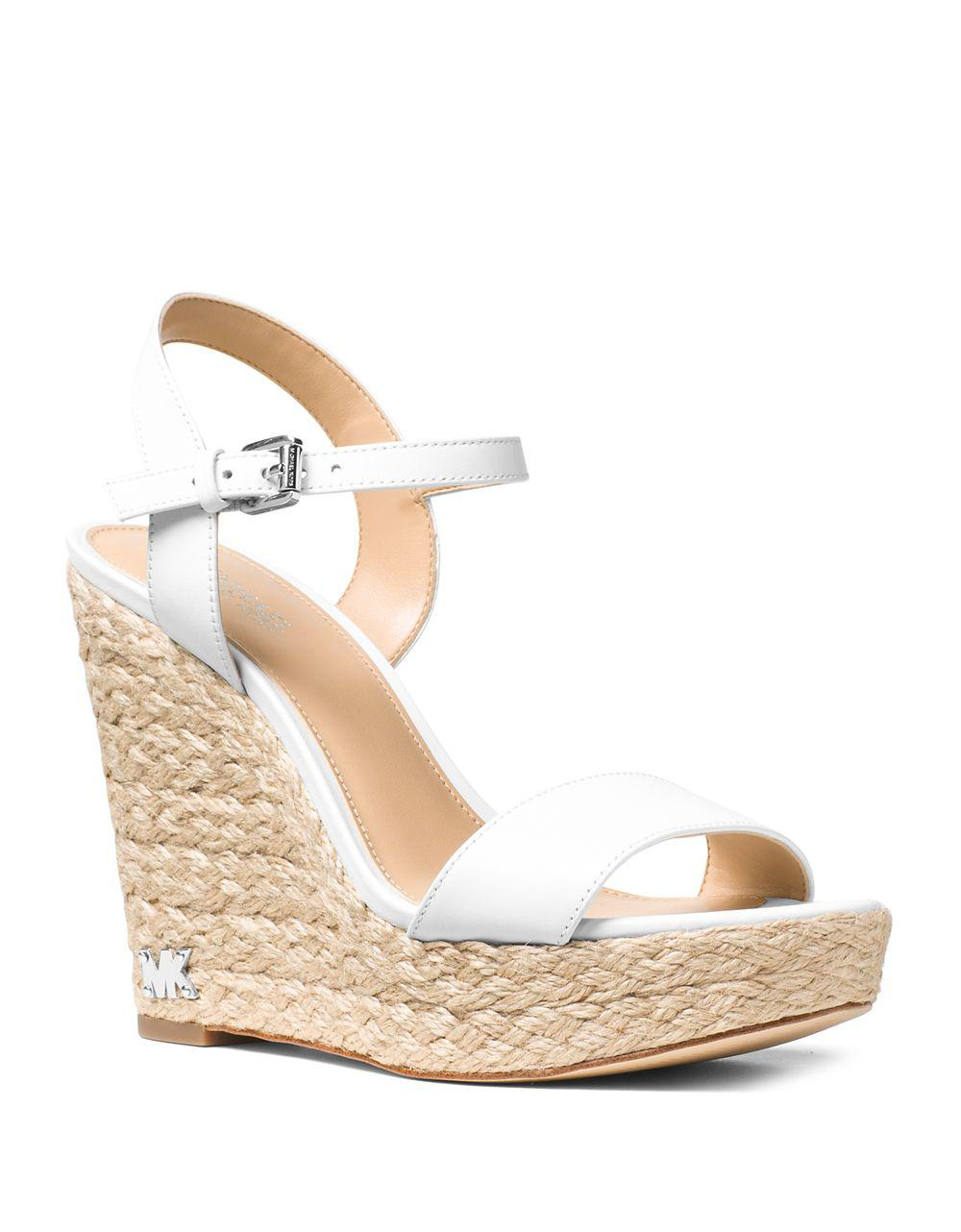 cdd13700be9 Lyst - Michael Michael Kors Jill Espadrille Wedge Leather Sandals in ...