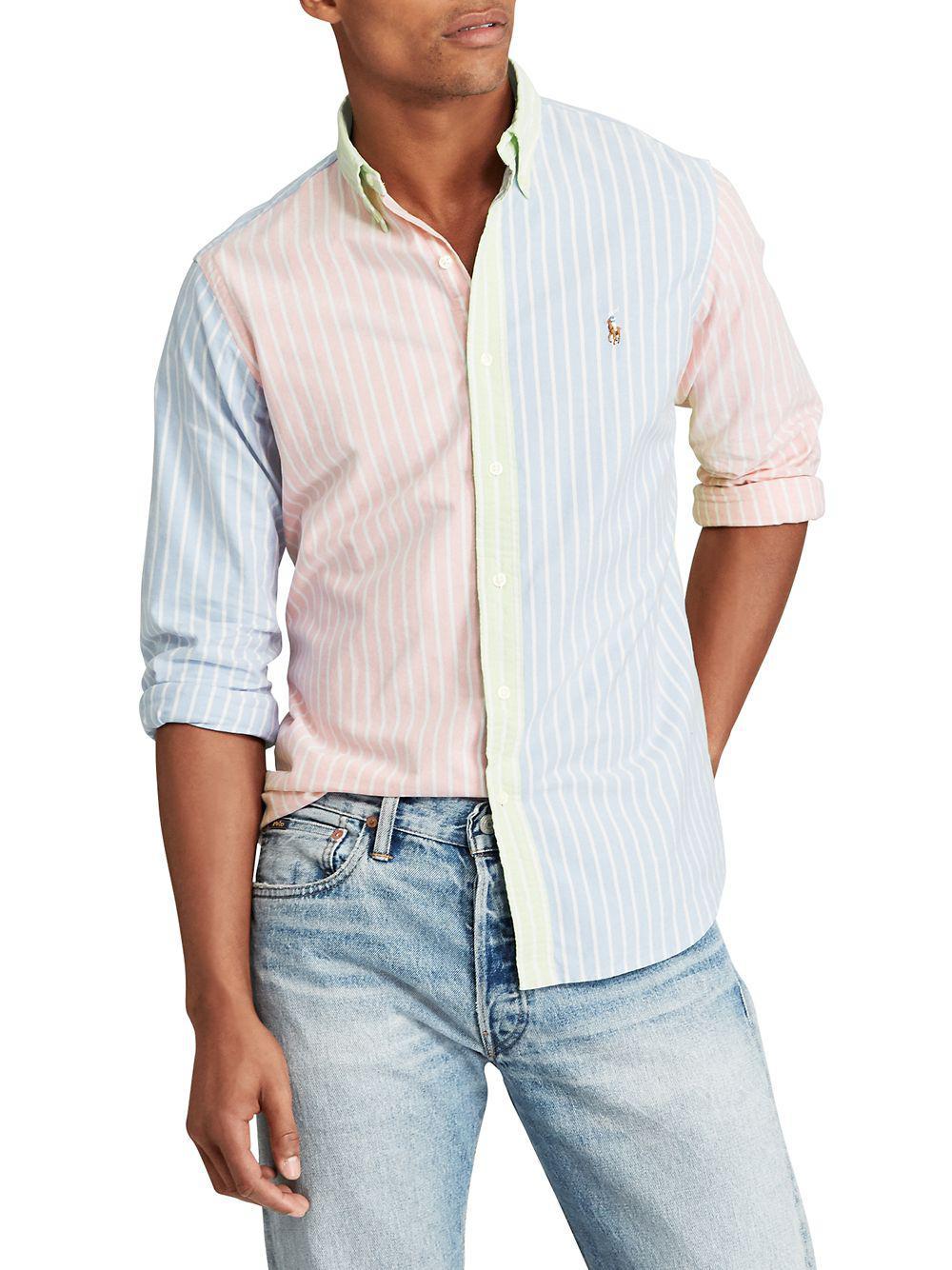 b25a6f3da54 Lyst - Polo Ralph Lauren Classic Oxford Fun Cotton Shirt in Blue for Men