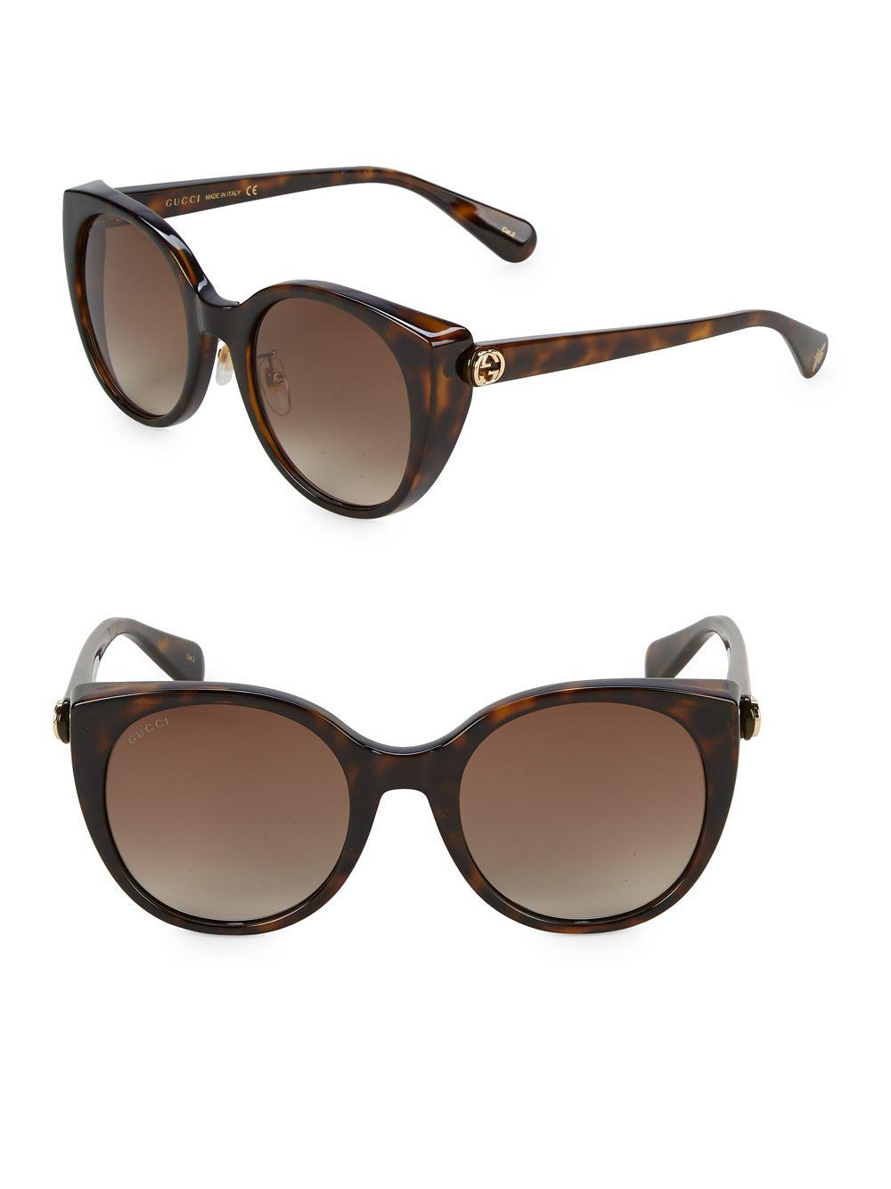 f41d203c935 Gucci - Brown 57mm Cat Eye Sunglasses - Lyst. View fullscreen