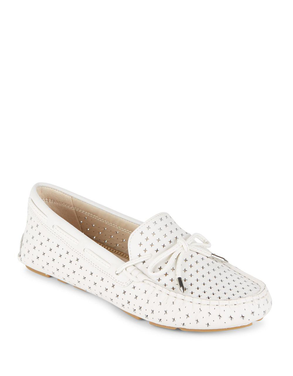 Florentine Sam In White Perforated Edelman Lyst Loafers P4wWqEPv ab2212e0c0d1