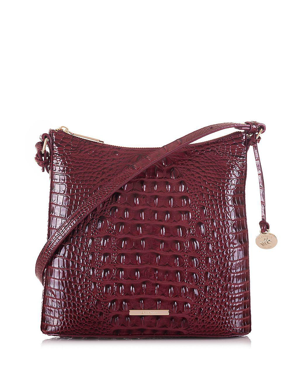 af8eb5b51 Brahmin Katie Top Zip Leather Crossbody Bag in Purple - Lyst