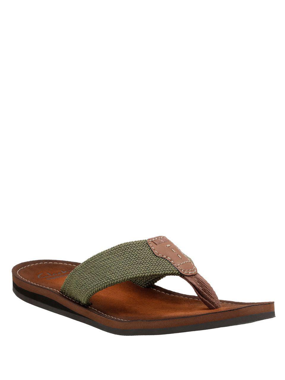 5159102c7aa6 Lyst - Clarks Lacono Beach Flip Flops in Green for Men