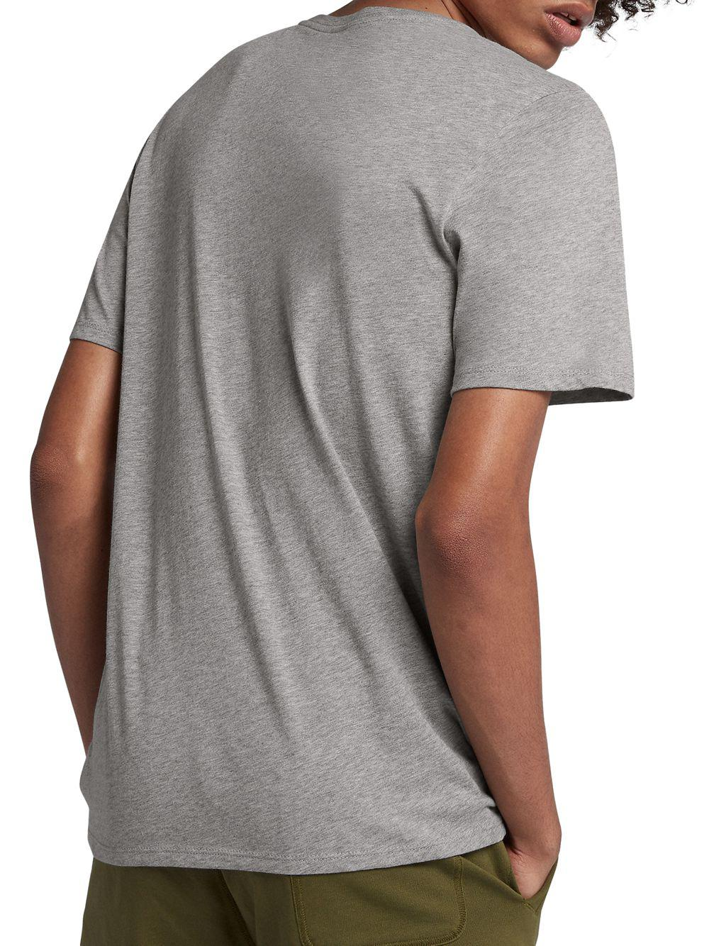 51f0ee4e Lyst - Nike Graphic Cotton Tee in Gray for Men