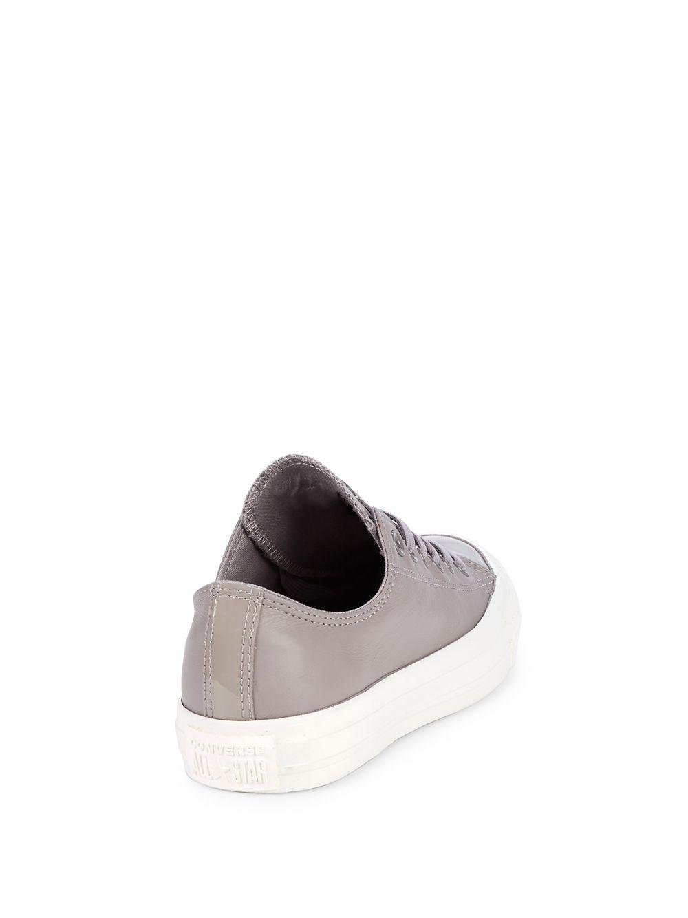 5ccf1da58ab881 Converse - Gray All-star Leather Low-top Sneakers - Lyst. View fullscreen