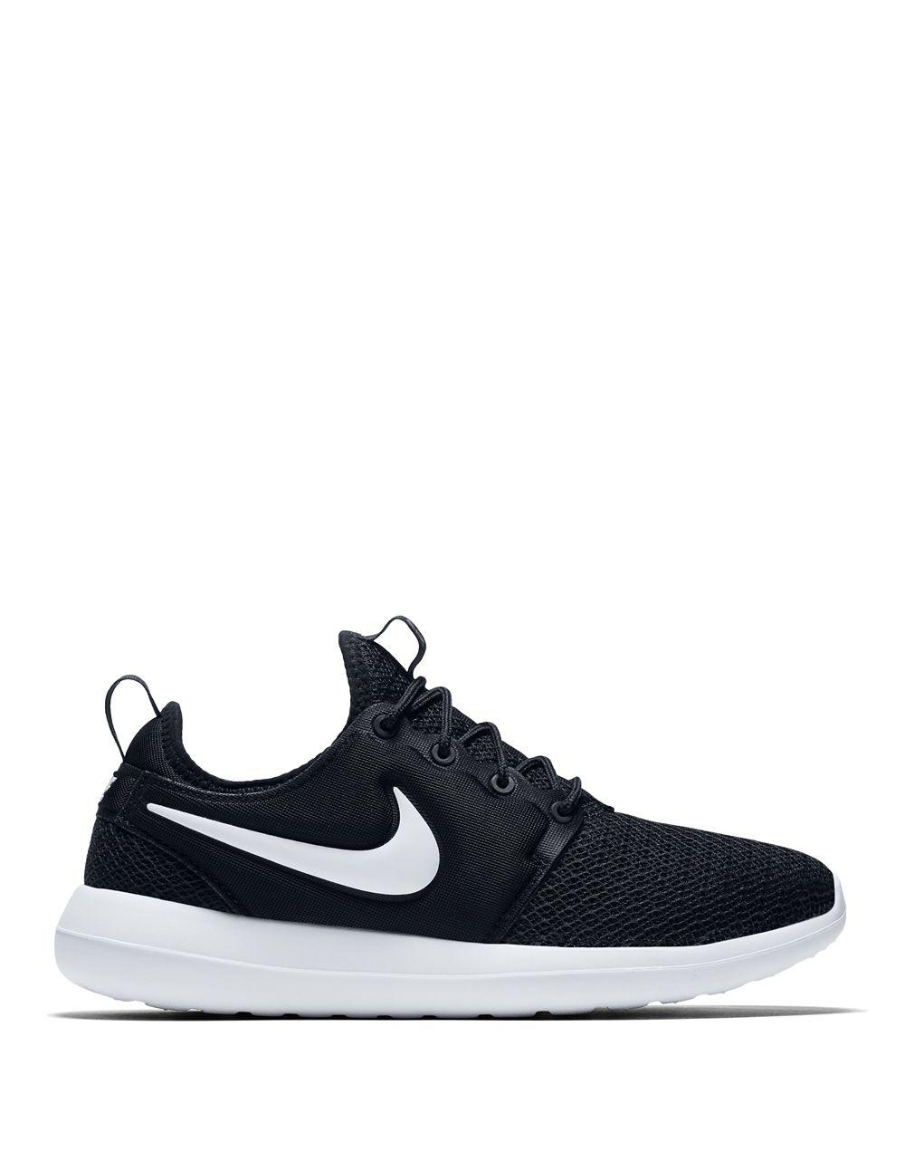 size 40 45787 8dc8e Lyst - Nike Roshe Two Lace-up Sneakers in Black