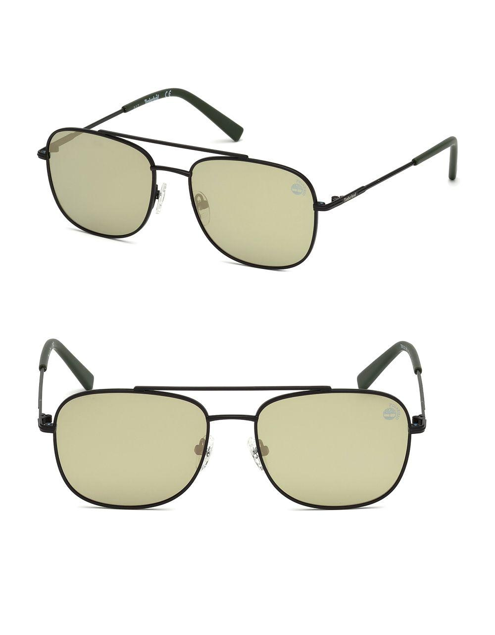 0df4c33bfbb Lyst - Timberland Stainless Steel Navigator Sunglasses in Black for Men
