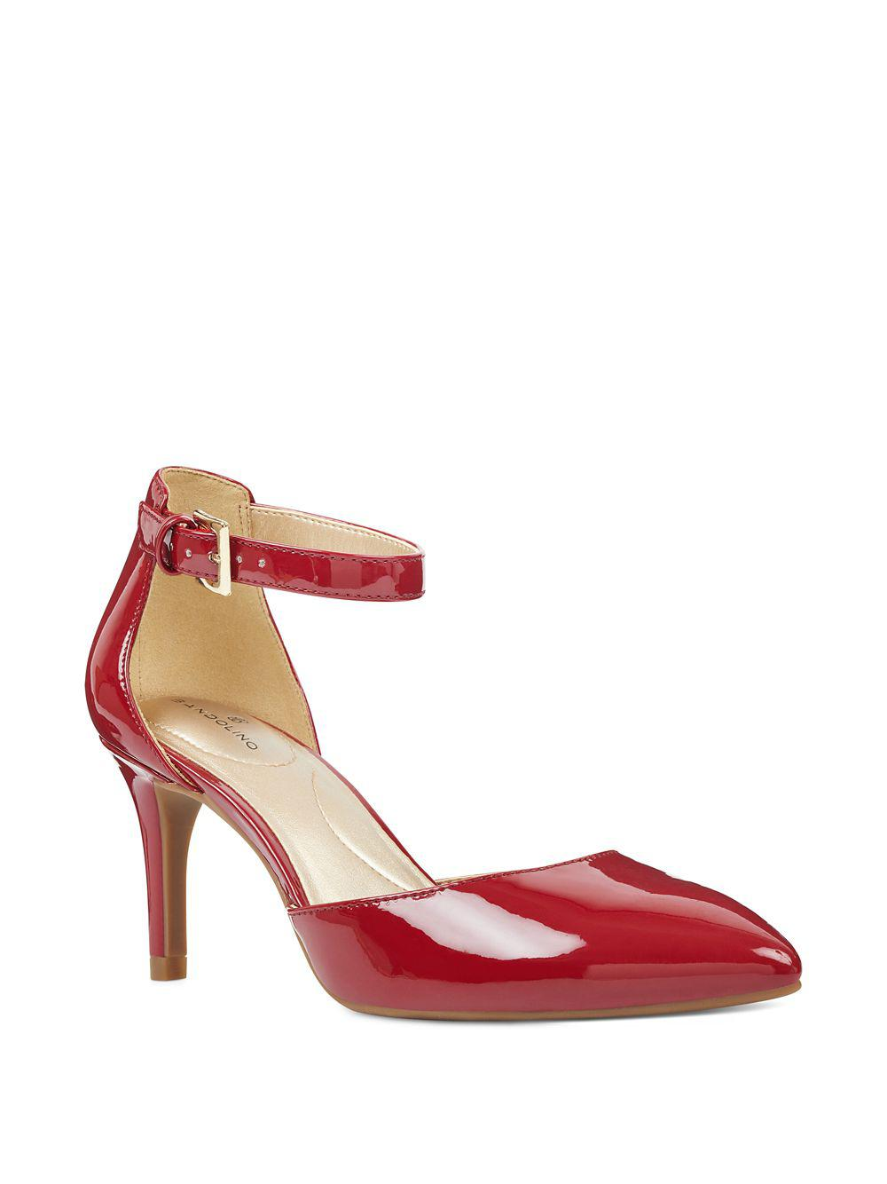 b11c01e11b33 Lyst - Bandolino Ginata Skinny Heel Dorsay Pumps in Red