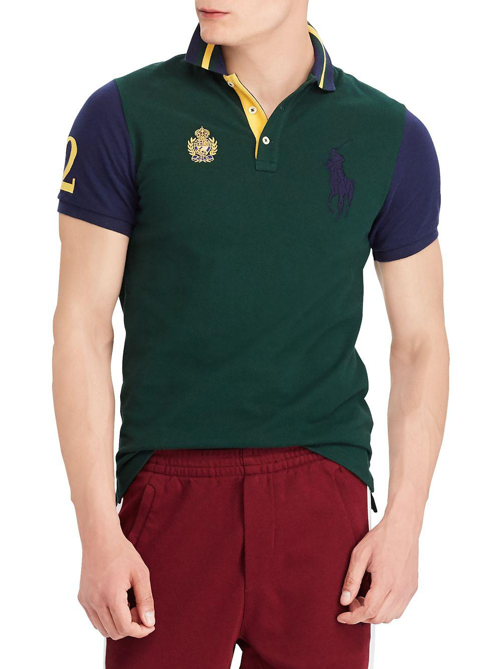 45a842b8 Lyst - Polo Ralph Lauren Classic-fit Mesh Polo Shirt in Green for Men