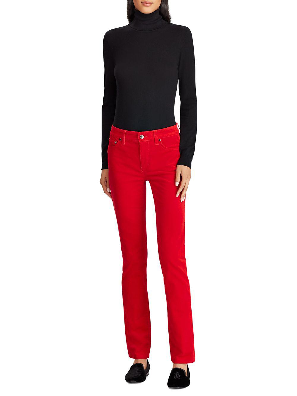 6298763ea76bb Lauren by Ralph Lauren - Red Classic Slim-fit Jeans - Lyst. View fullscreen