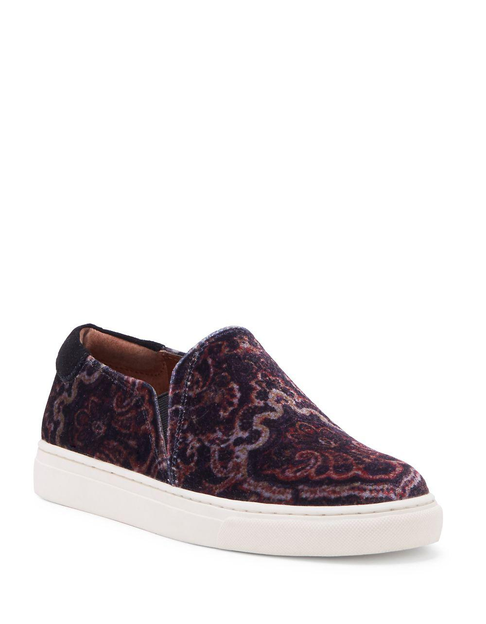 Lucky Brand Lupa Velvet Slip Purple on Sneakers in Purple Slip Lyst 8fa1ff