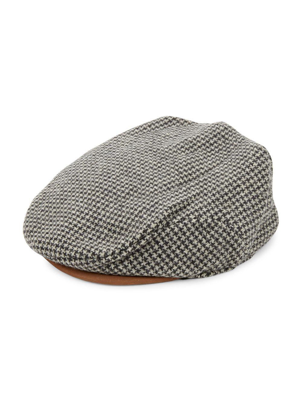 ee0c8c16534 Lyst - Polo Ralph Lauren Wool-blend Flat Cap in Gray for Men