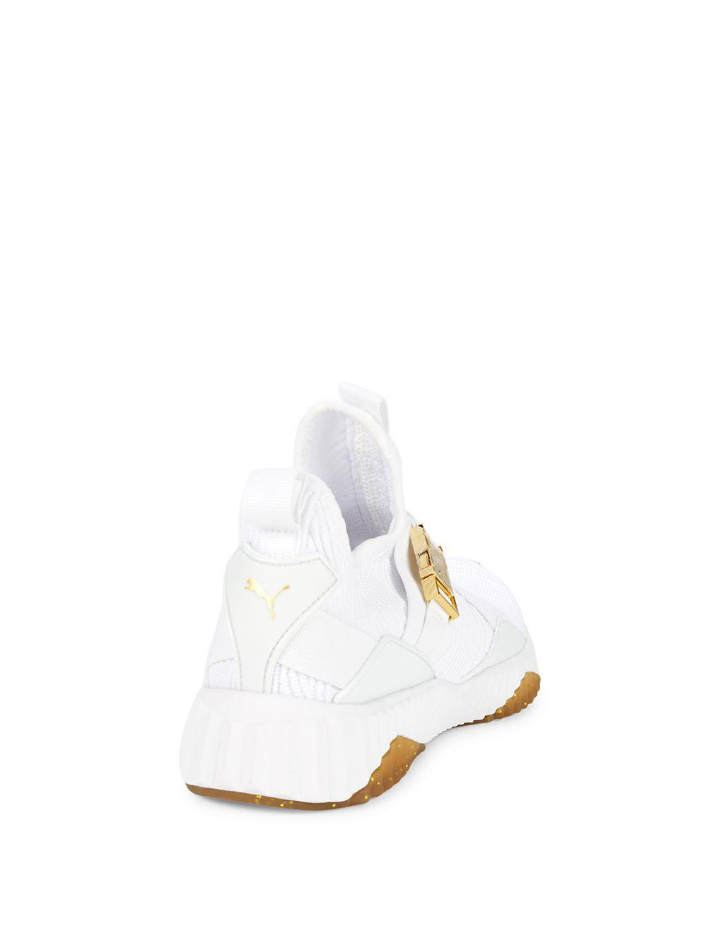 ea9126e5f5eb94 PUMA - White Defy Mid-top Sneakers - Lyst. View fullscreen