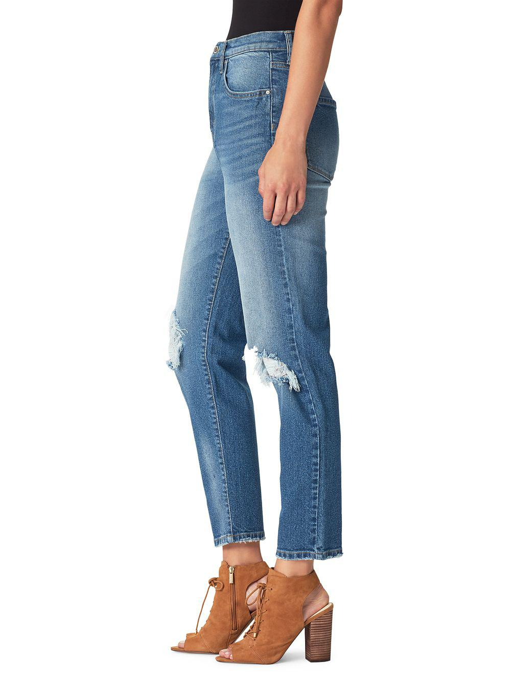 b181d4457a5 Jessica Simpson - Blue Infinite High Rise Straight Jeans - Lyst. View  fullscreen