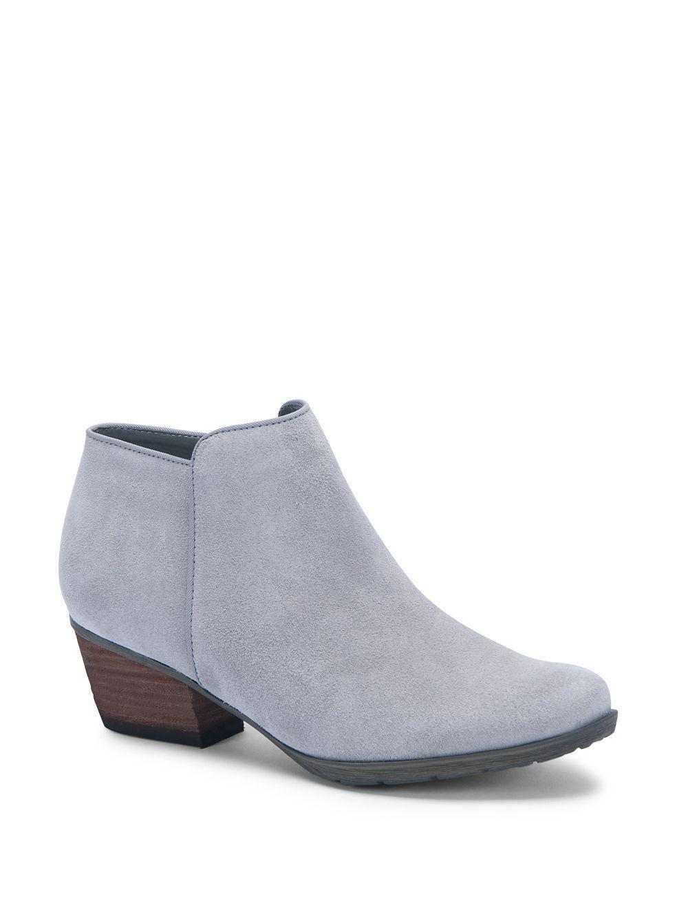 7d535713a18cd Lyst - Blondo Villa Suede Ankle Boots in Gray