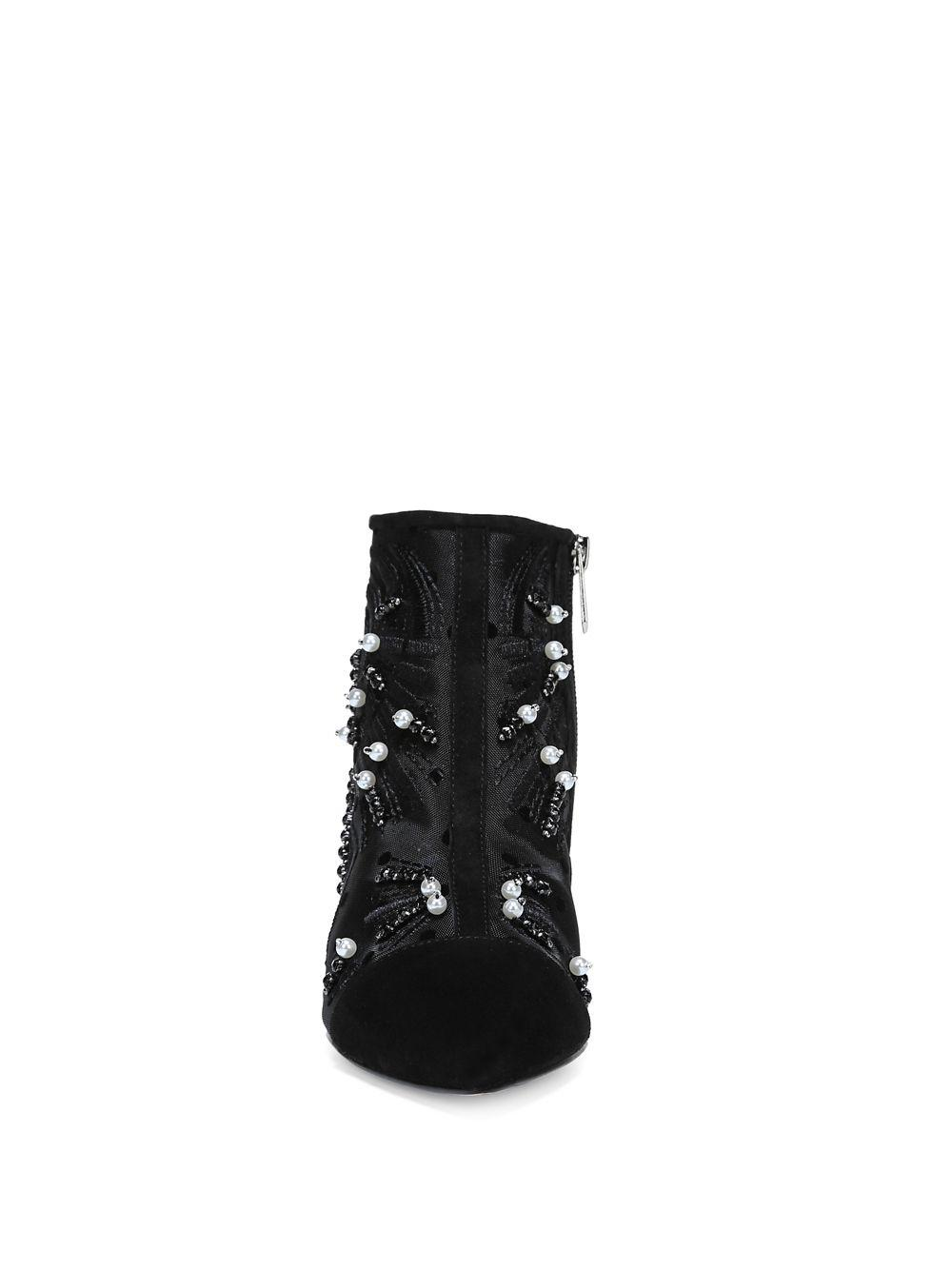 ea0c582703bc76 Sam Edelman - Black Kami Embellished Kitten Heel Booties - Lyst. View  fullscreen