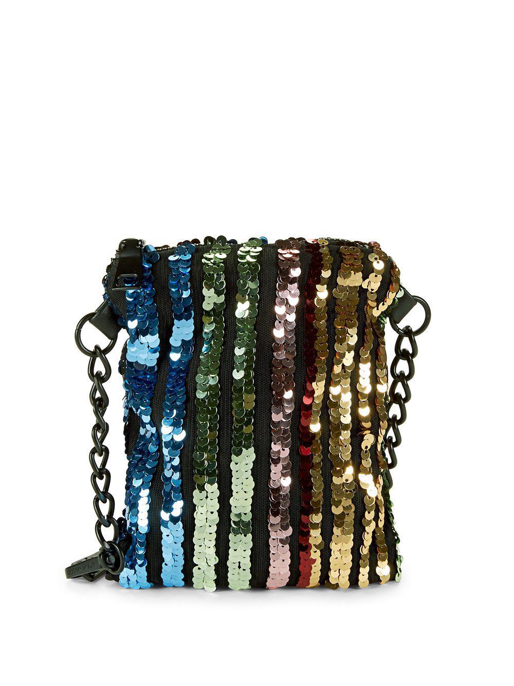 0addd3b75155b Steve Madden. Women's Convertible Rainbow Sequin Belt Bag