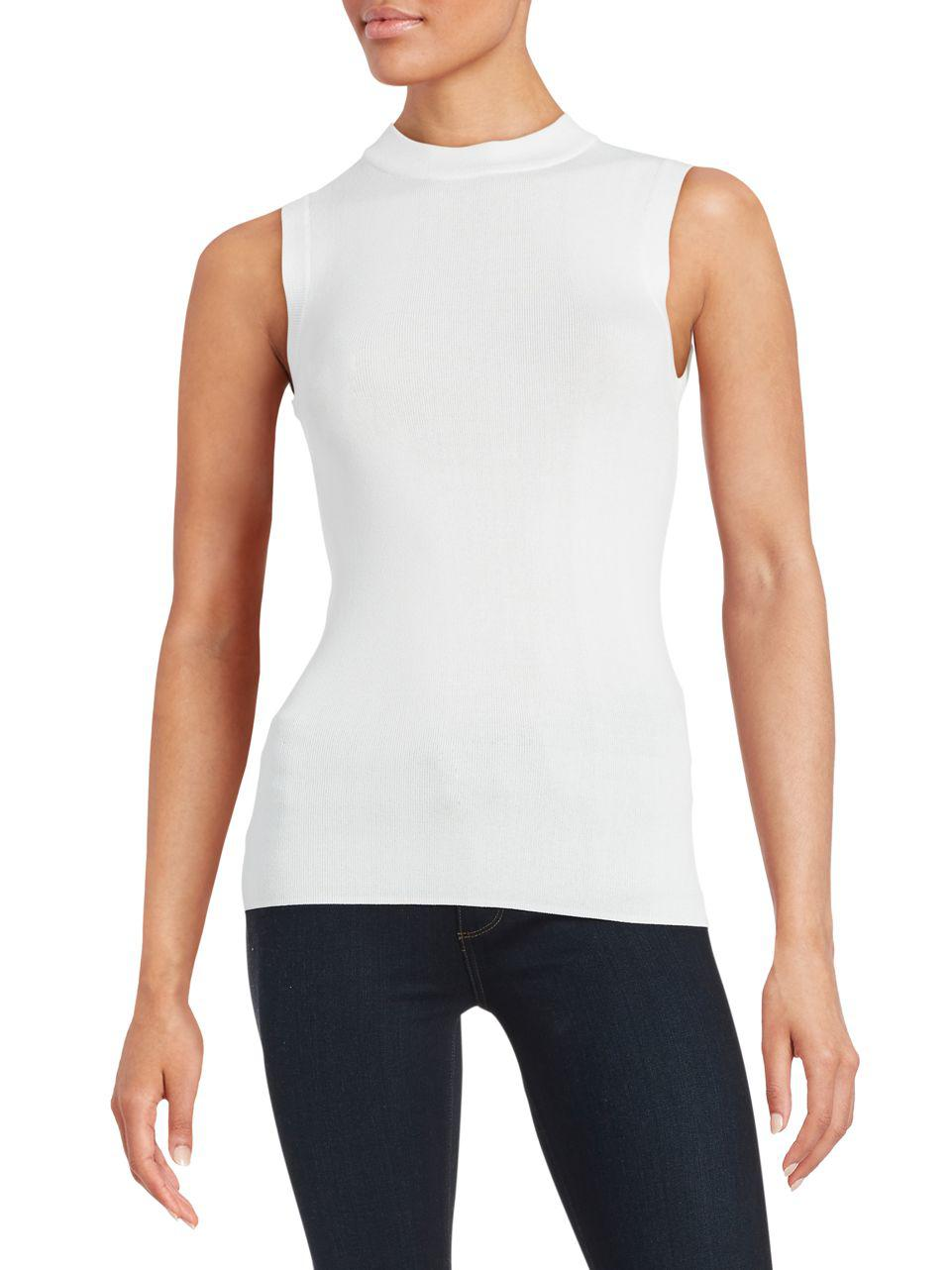 DKNY Knit Sleeveless Top Best Seller Online Clearance Professional Cheap Looking For Cheap Price Outlet HLnUKp