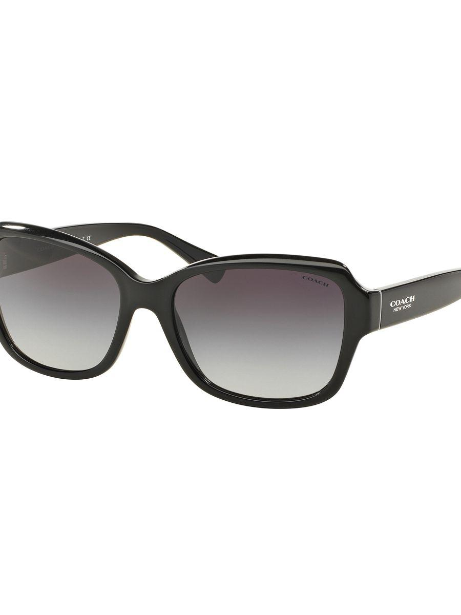 ec2ed570c6ef ... where to buy coach legacy butterfly 56mm rectangular sunglasses in  black lyst 30a4a 6ac8f