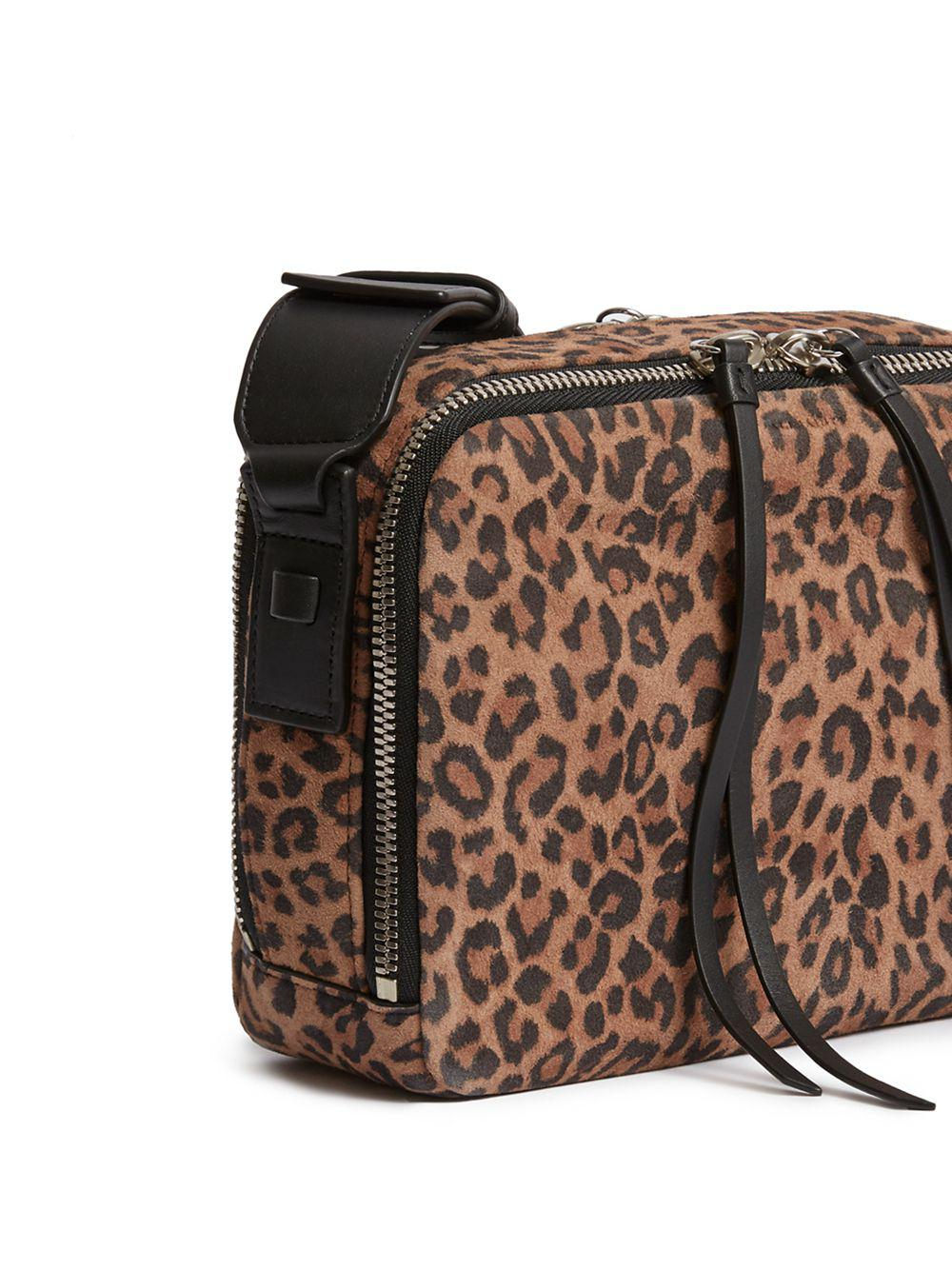 f0af62dbb AllSaints - Black Vincent Leopard Calf Hair And Leather Crossbody Bag -  Lyst. View fullscreen