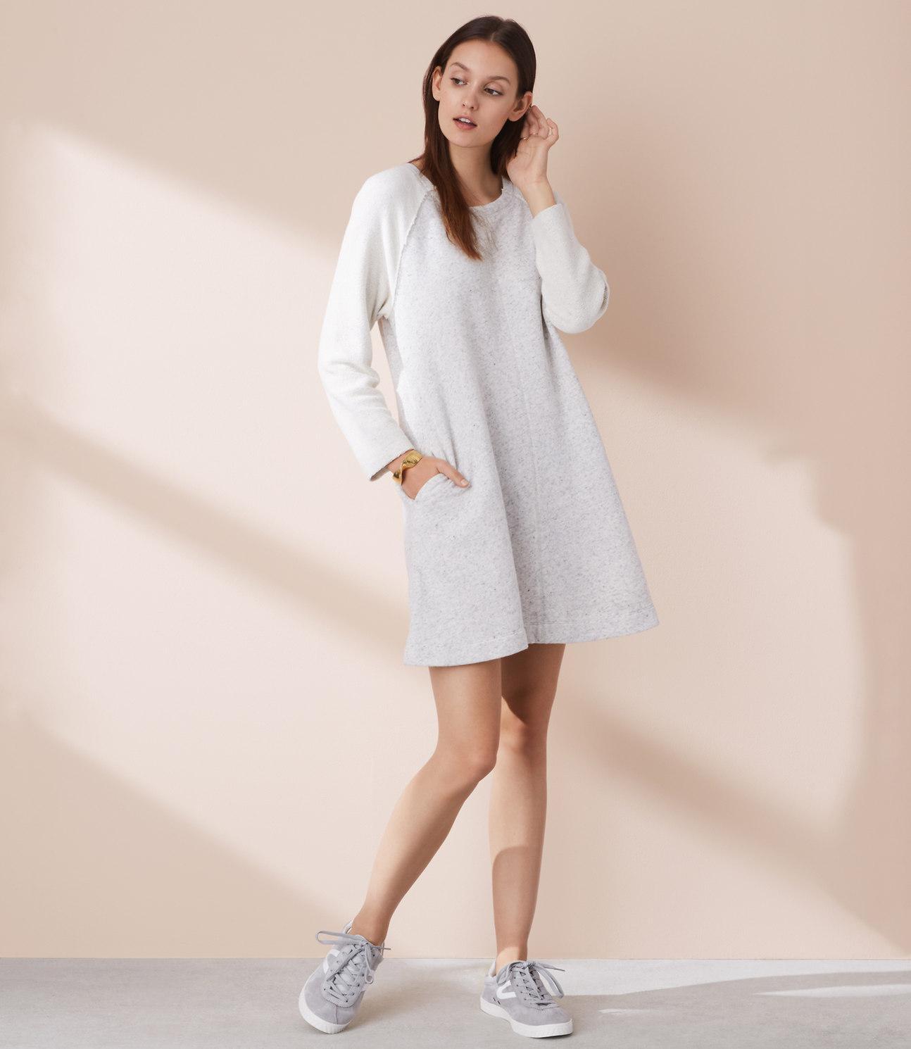 7e8371ef74a Lou   Grey Pocket Sweatshirt Dress in Gray - Lyst
