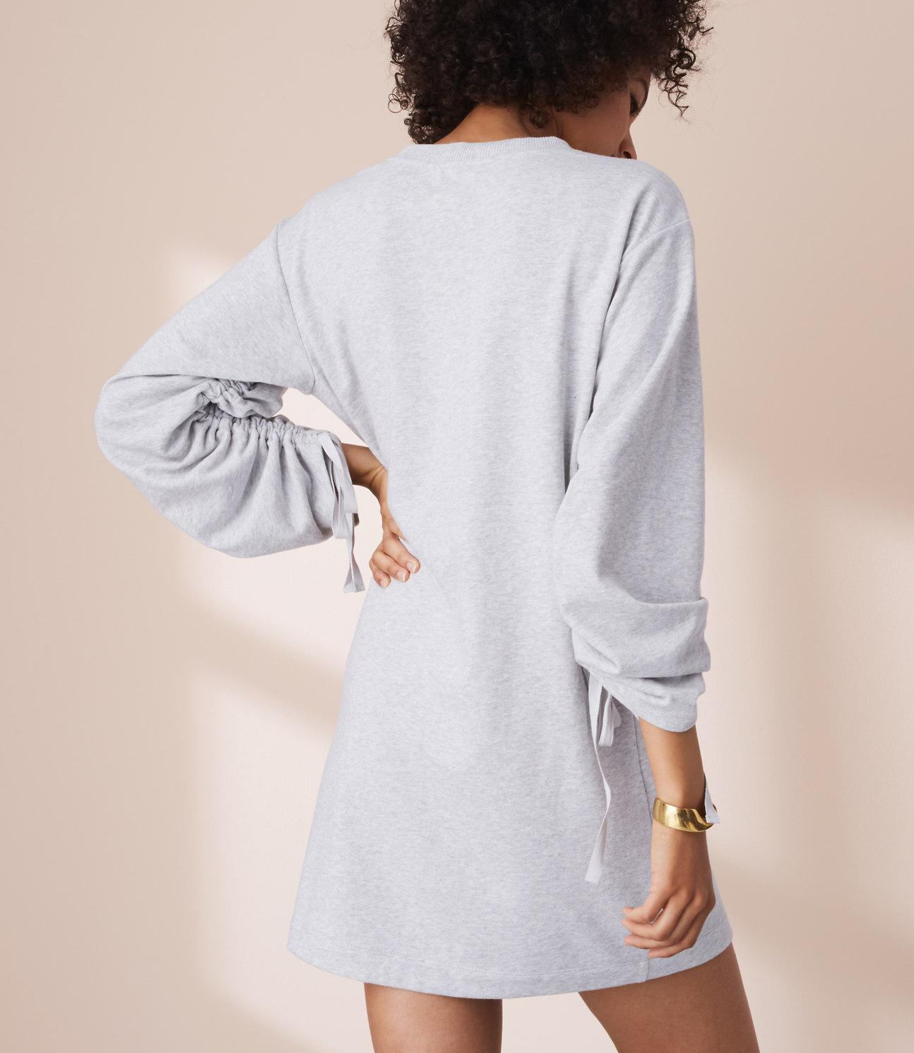 3ced2e61cf8 Lyst - Lou   Grey Ruched Sweatshirt Dress in Gray