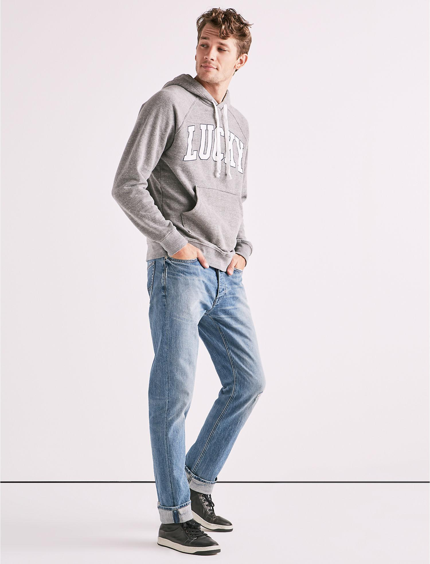 Lyst - Lucky Brand Made In L a  Lucky Hoodie in Gray for Men