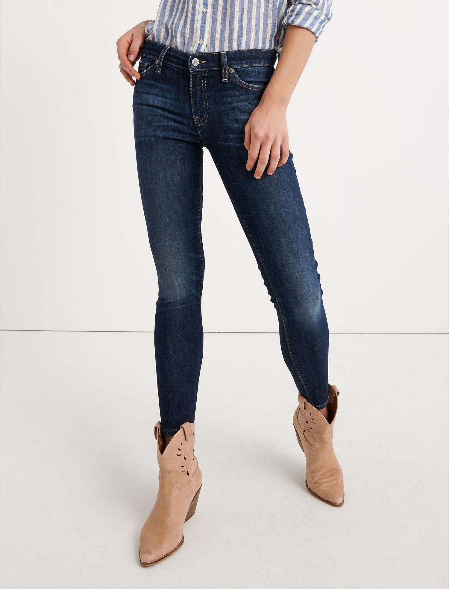 ce5eee336ef22 Lyst - Lucky Brand Mid Rise Ava Crop in Blue