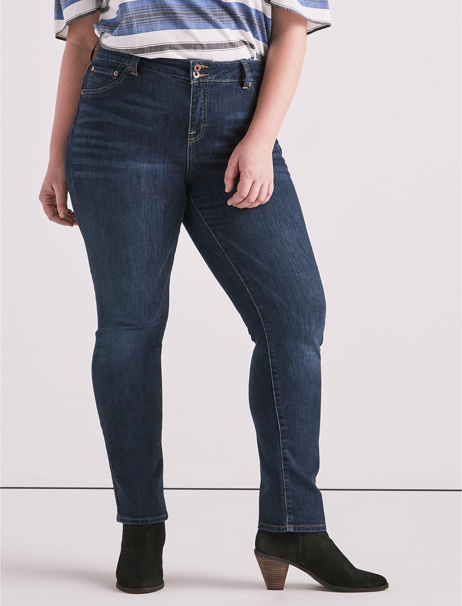 e42d38e3c73cb Lyst - Lucky Brand Plus Size Emma Straight Leg Jean In Goleta in Blue