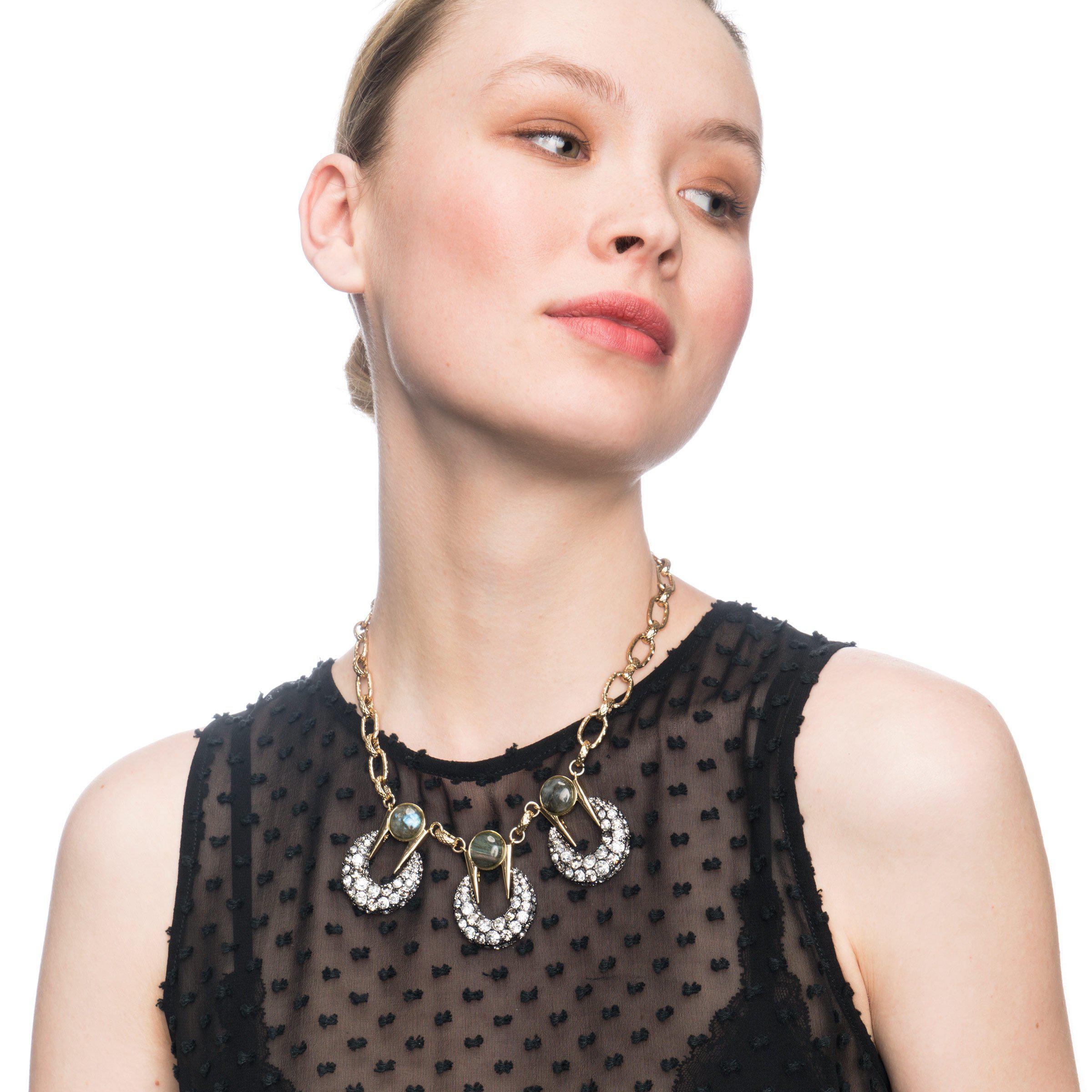 Lulu Frost Laumiere Triple Pendant Necklace MLiKMCVhE