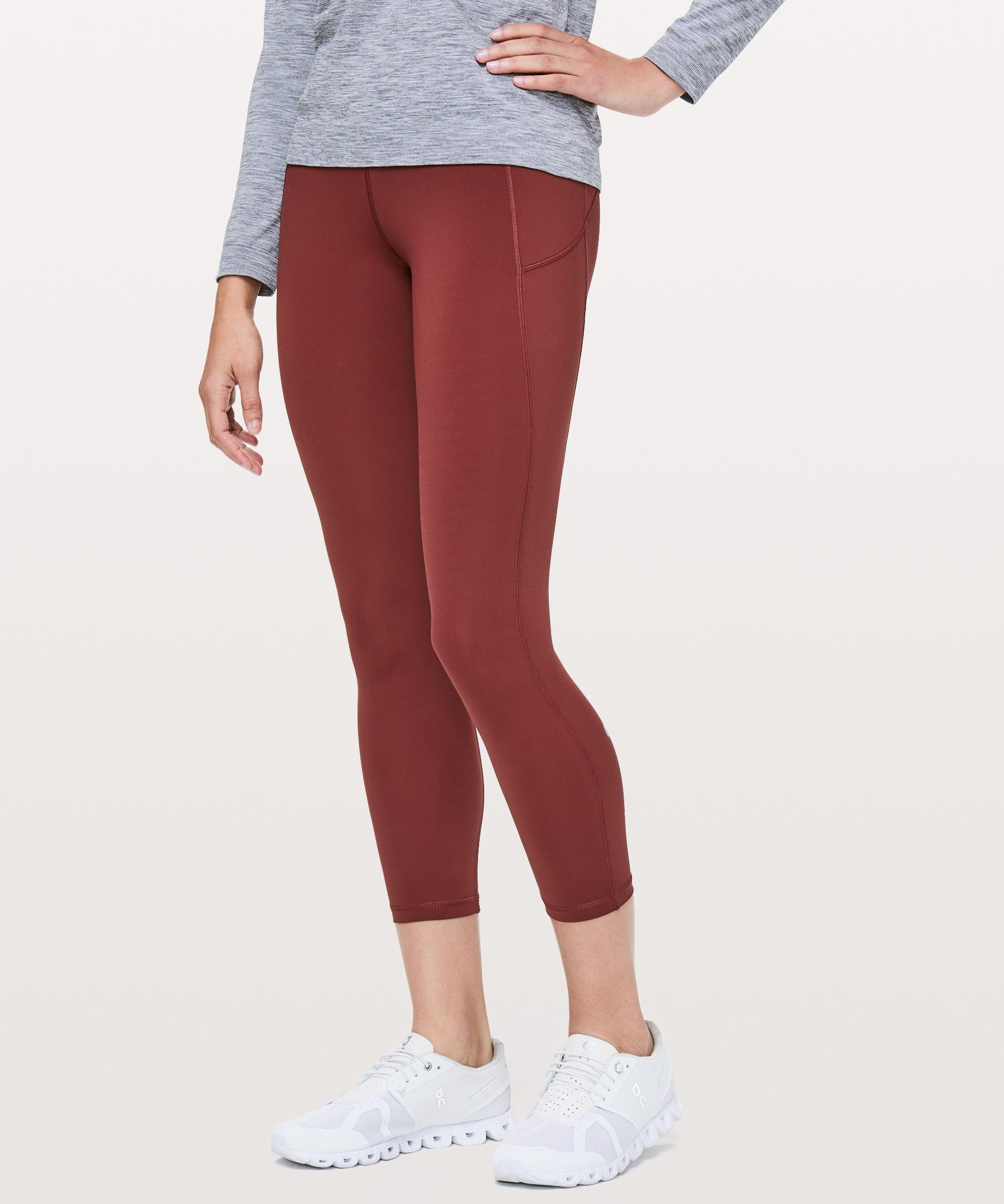 a57188eae lululemon athletica Final Lap Crop in Red - Lyst
