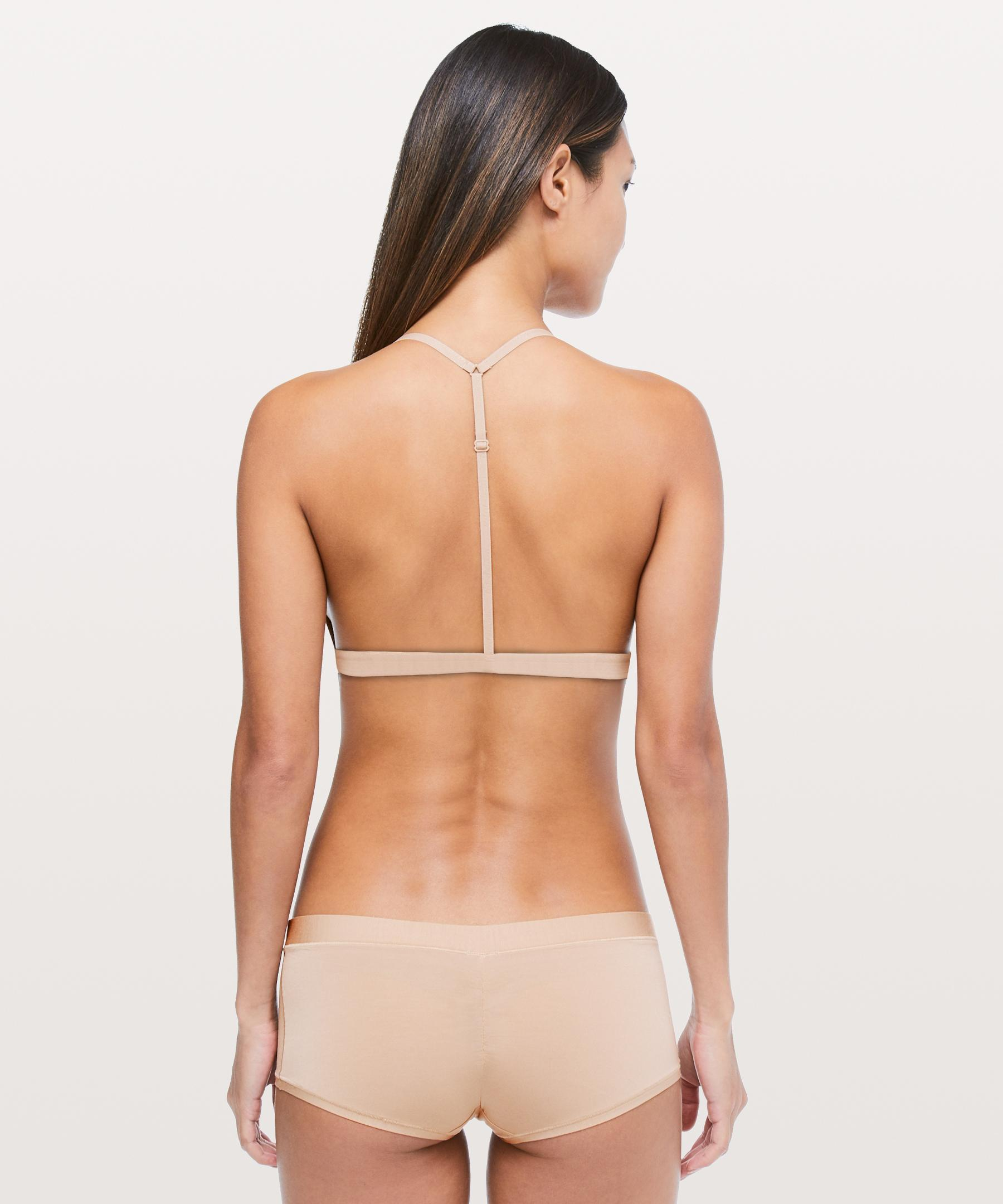 bc27f056ea Lyst - lululemon athletica Simply There Triangle Bralette in Natural